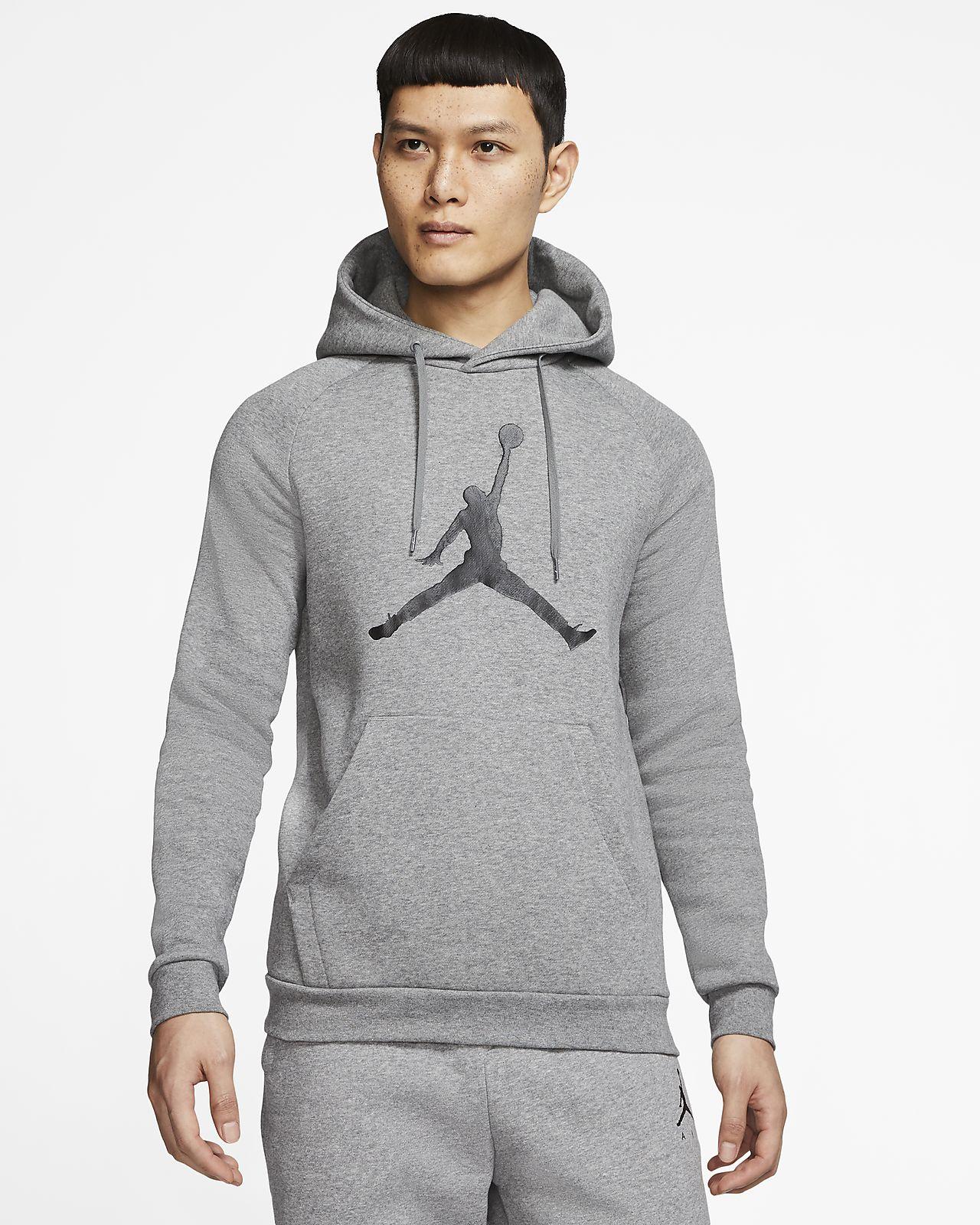 Fleecehuvtröja Jordan Jumpman Logo för män