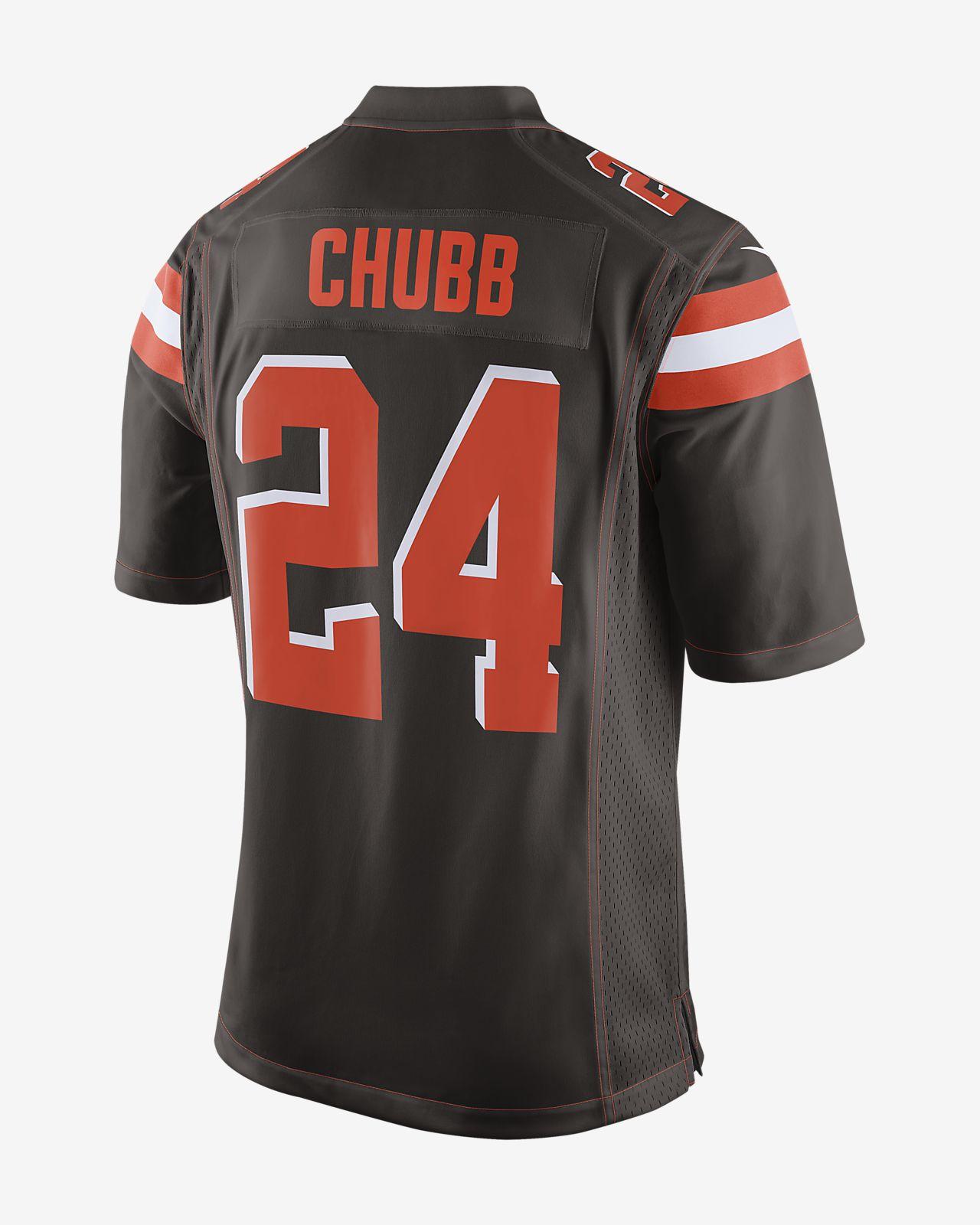 185b3bc191a NFL Cleveland Browns (Nick Chubb) Men s Game Football Jersey. Nike.com