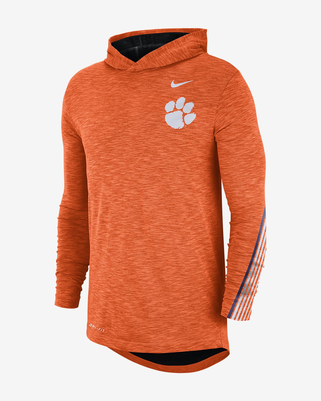 Nike College (Clemson) Men's Long-Sleeve Hooded T-Shirt