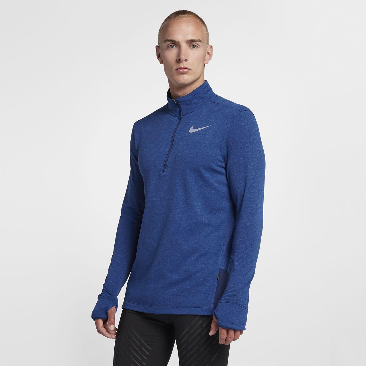 Löpartröja med halv dragkedja Nike Therma Sphere för män