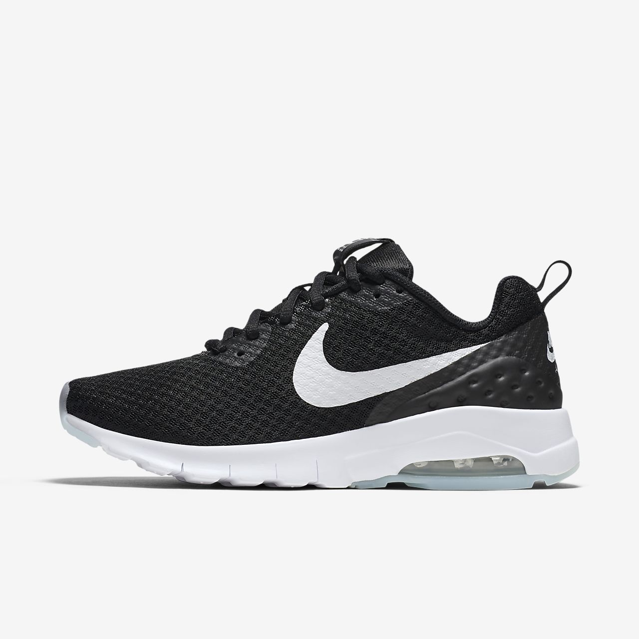 nike air max motion low sneakers zwart heren