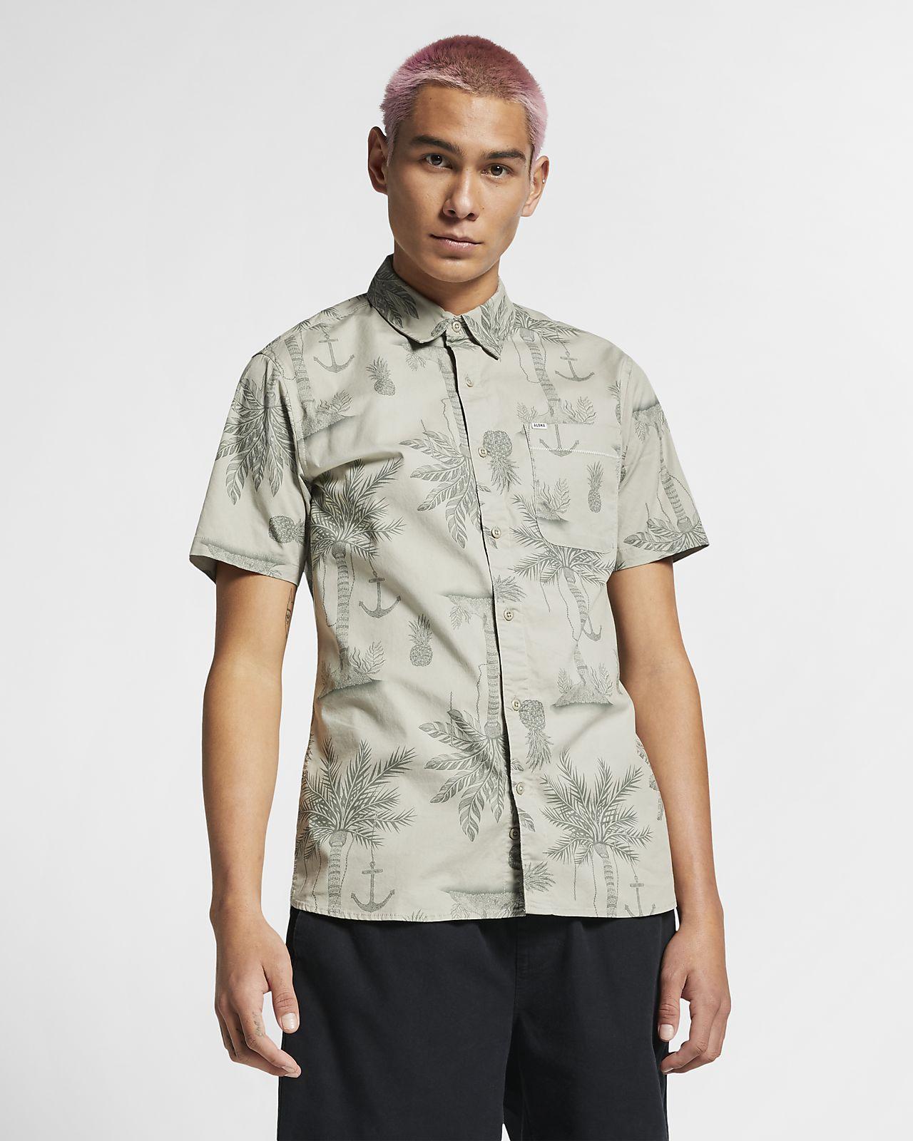 Hurley Asylum Stretch Kısa Kollu Erkek Gömleği