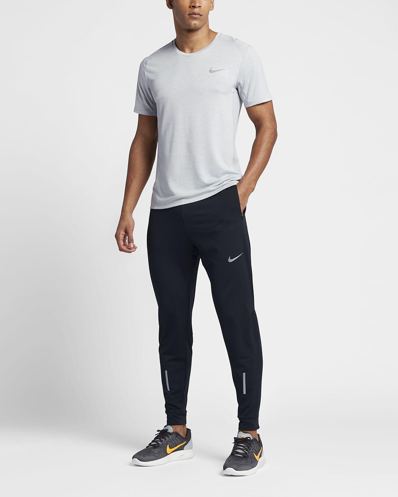 Nike Pantalons Chaussettes Hommes Dri Fit Pantalons Nike De Course Blanc gros pas 047c8e