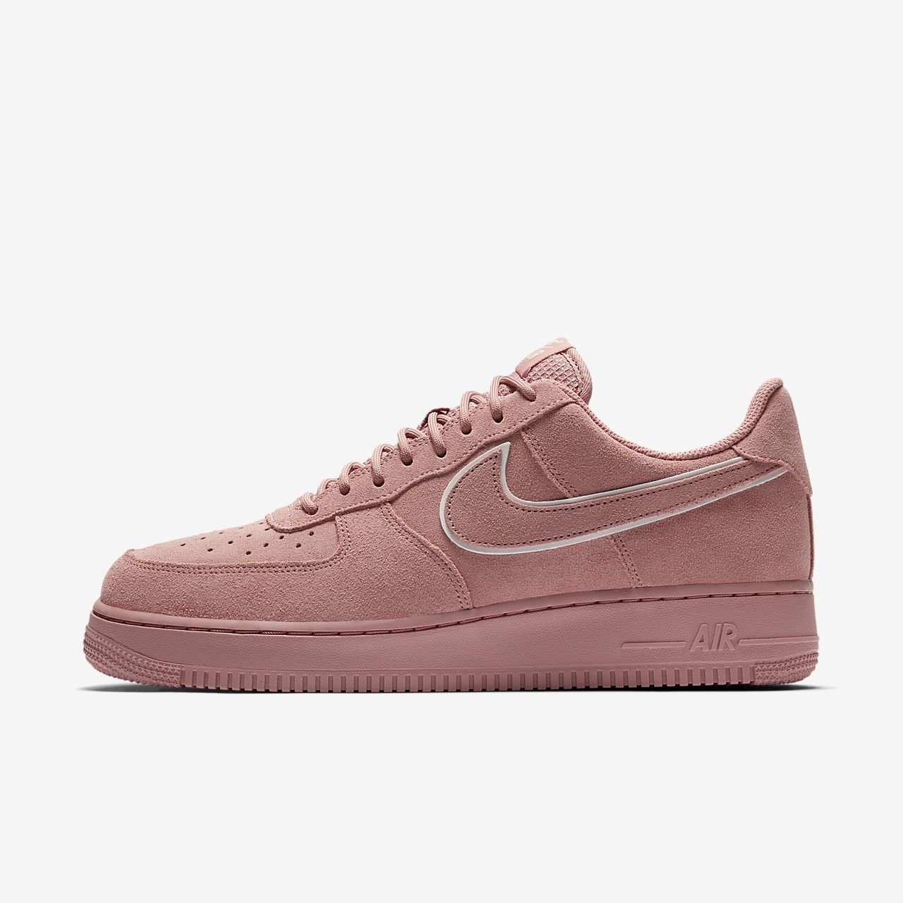 nike air force 1 zwart suede