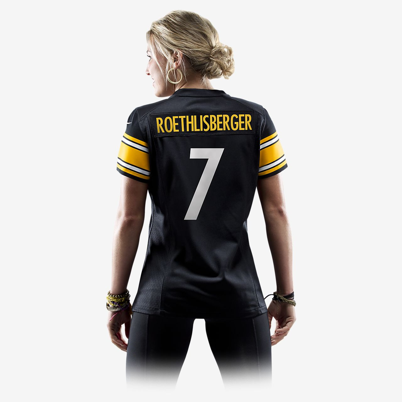 0efcf0a6607 ... NFL Pittsburgh Steelers (Ben Roethlisberger) Women s Football Home Game  Jersey