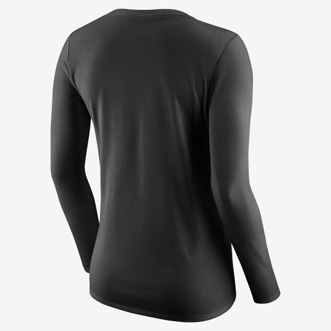 6af45f46e119 Los Angeles Lakers Nike Dri-FIT Logo Women s Long-Sleeve NBA T-Shirt ...