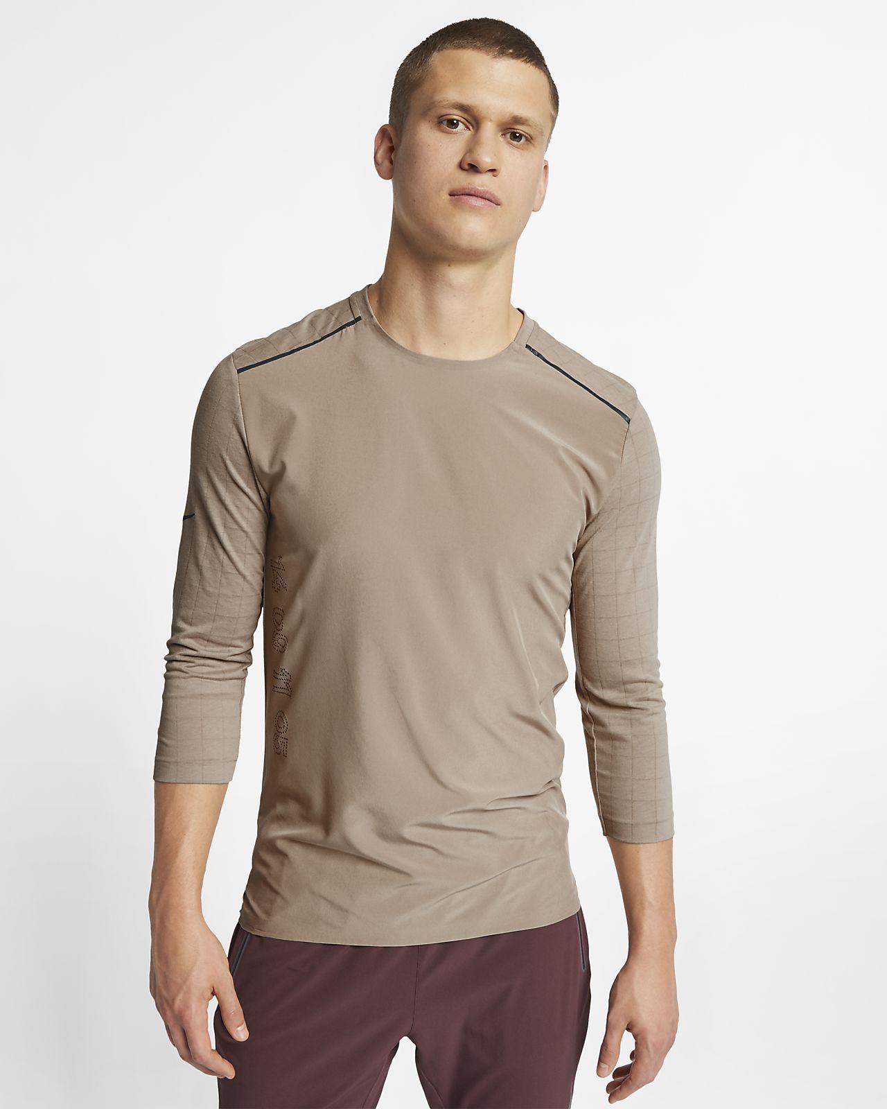 Ανδρική μπλούζα για τρέξιμο με τρουακάρ μανίκια Nike Rise 365 Tech Pack