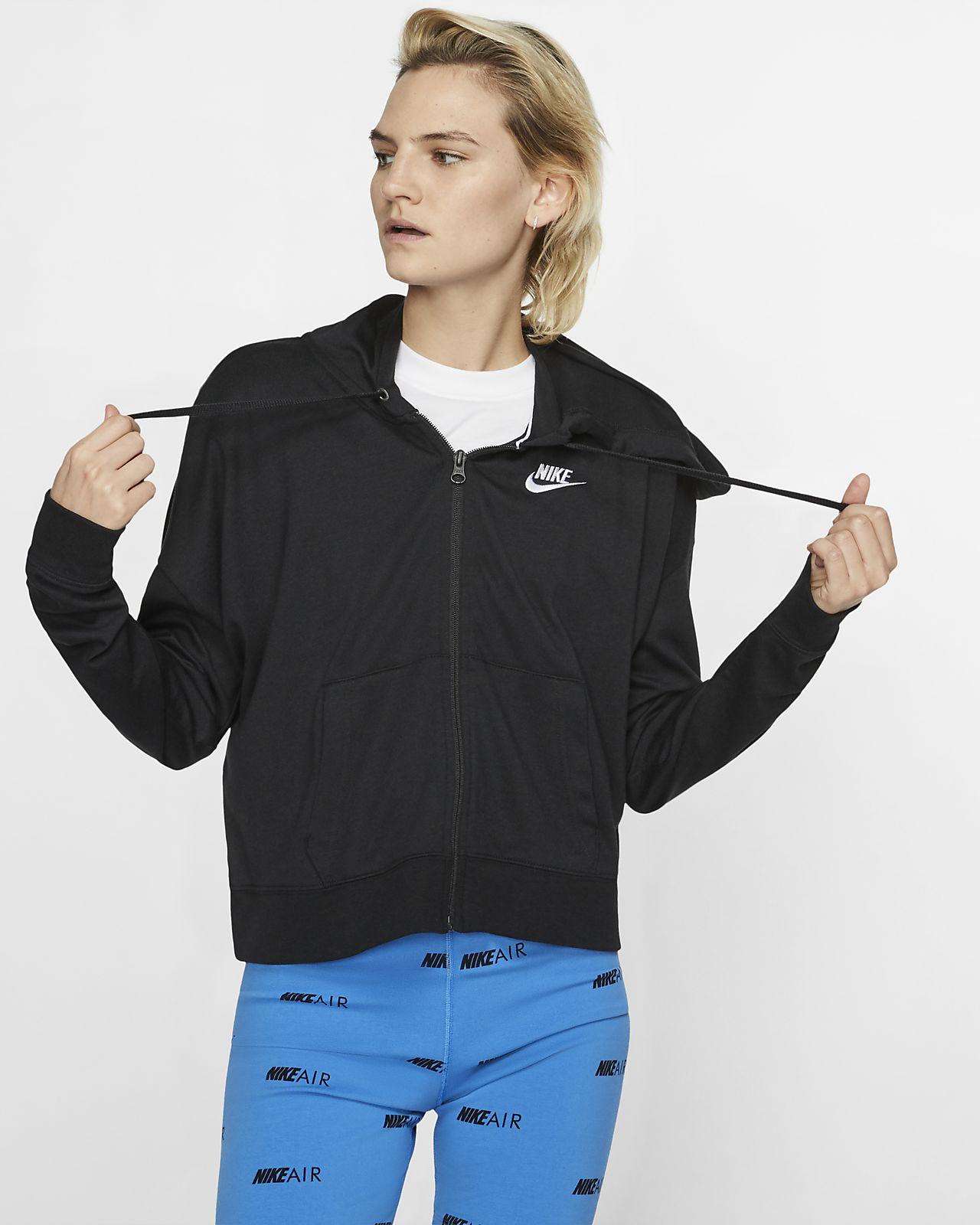 Nike Sportswear Tam Boy Fermuarlı Kapüşonlu Kadın Üstü