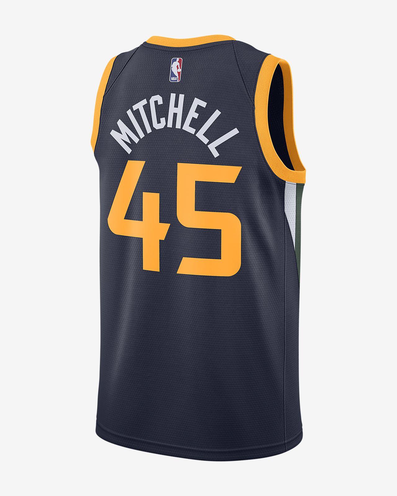bc3438dd31f ... 犹他爵士队(Donovan Mitchell) Icon Edition Swingman Jersey Nike NBA Connected  Jersey 男子