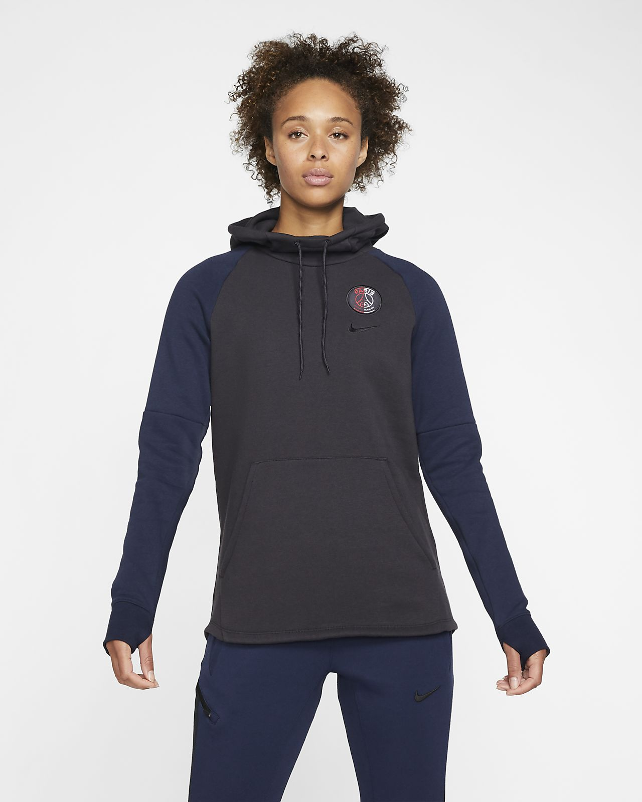 Felpa pullover in fleece con cappuccio Paris Saint-Germain - Donna