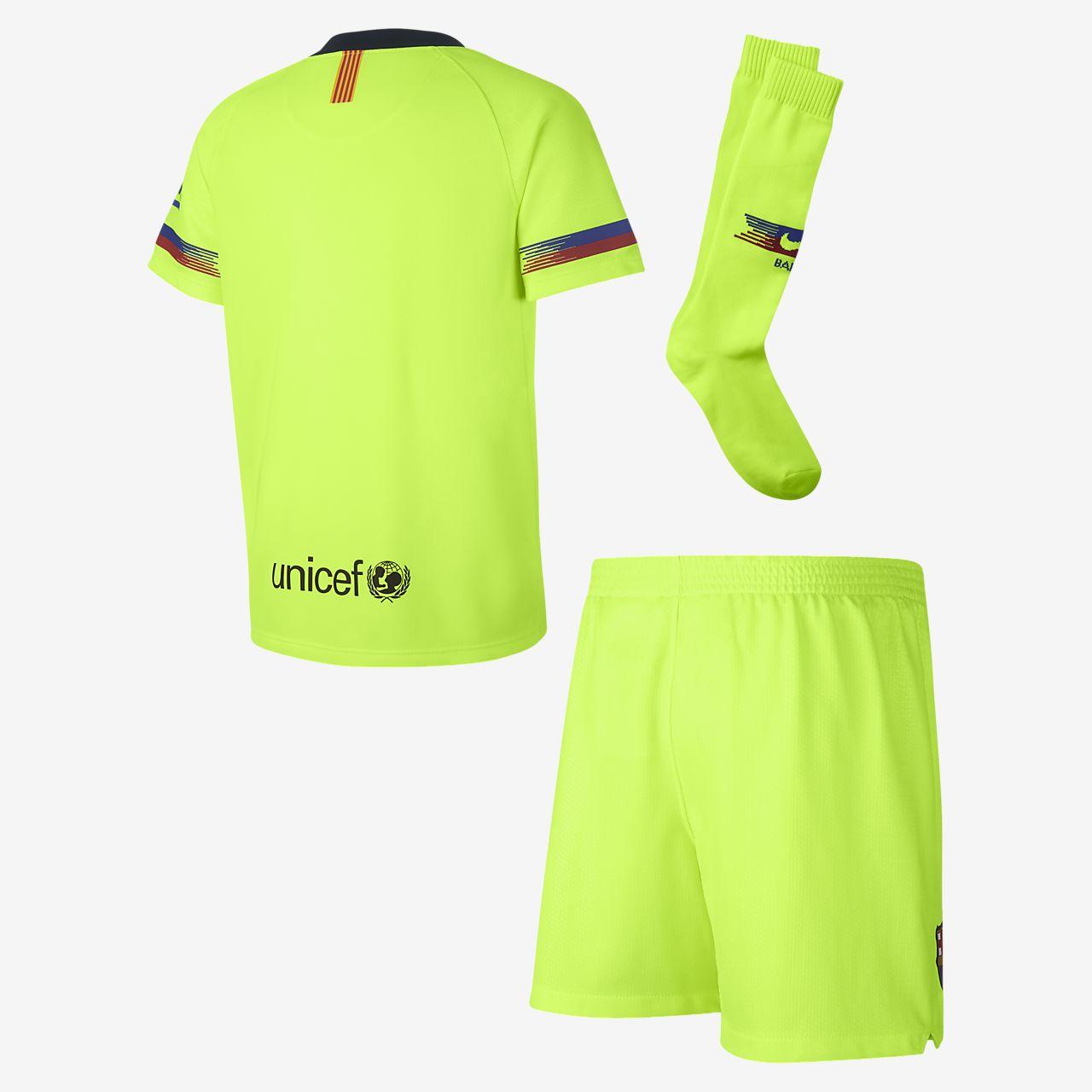 d449b9299 2018 19 FC Barcelona Stadium Away Younger Kids  Football Kit. Nike ...