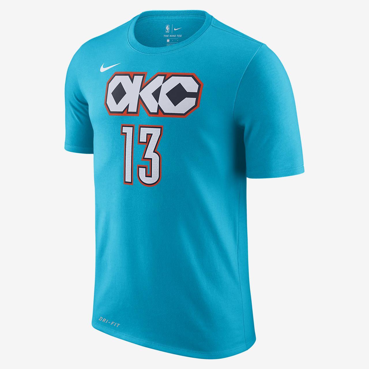 Paul George Oklahoma City Thunder City Edition Nike Dri-FIT Men's NBA T-Shirt