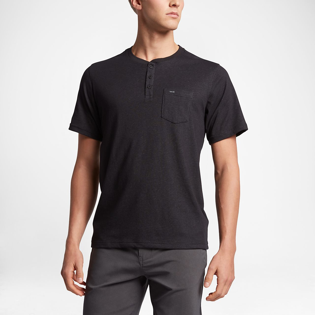 Nike Hurley Dri-FIT Henley Black Official