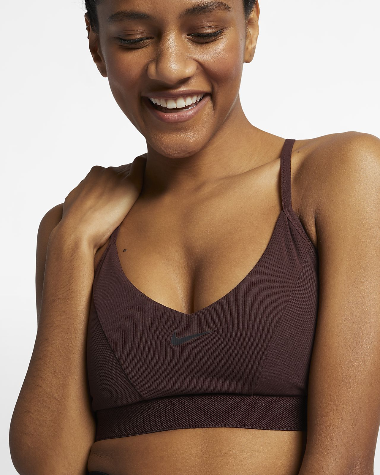 61cb4e4484 Nike Indy Women s Ribbed Light Support Sports Bra. Nike.com AU