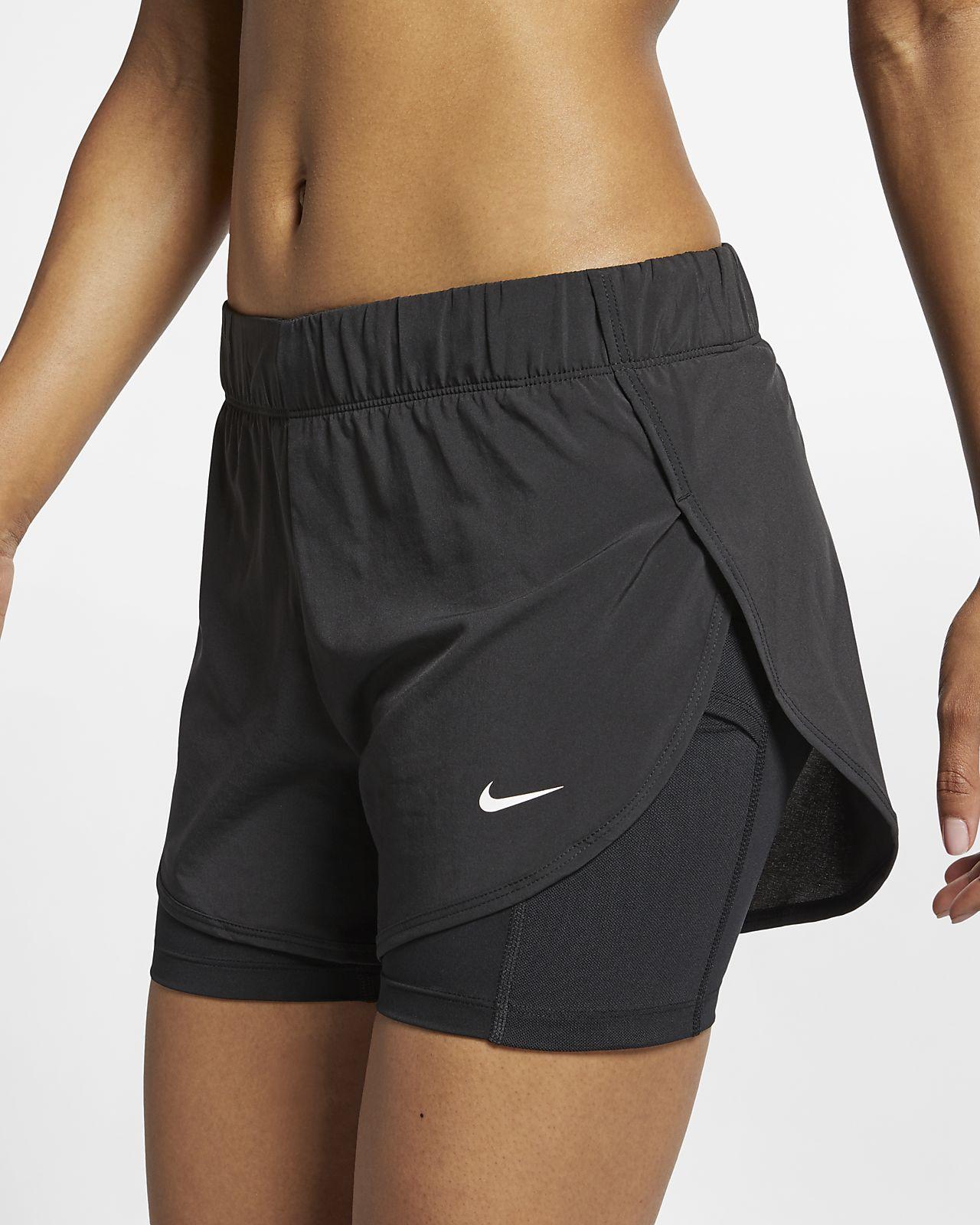 Calções de treino 2 em 1 Nike Flex para mulher