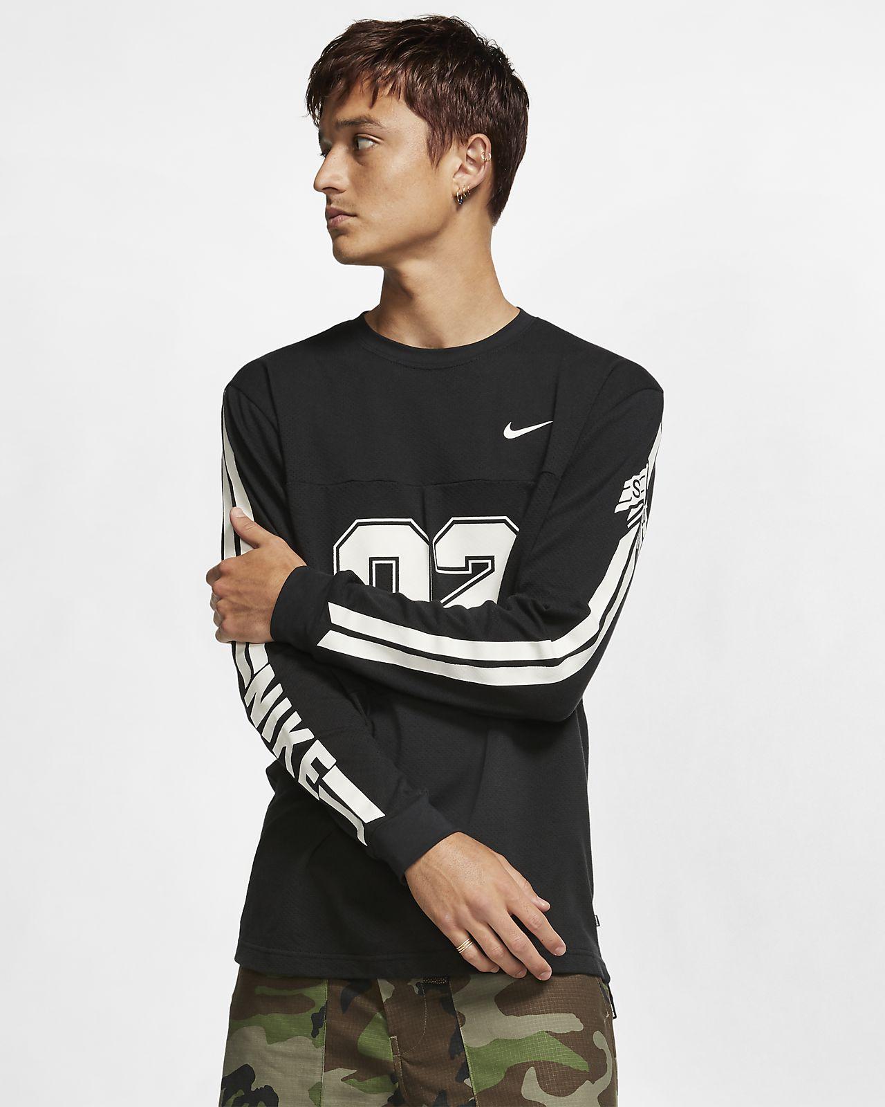 Langærmet Nike SB-skatertop i mesh til mænd