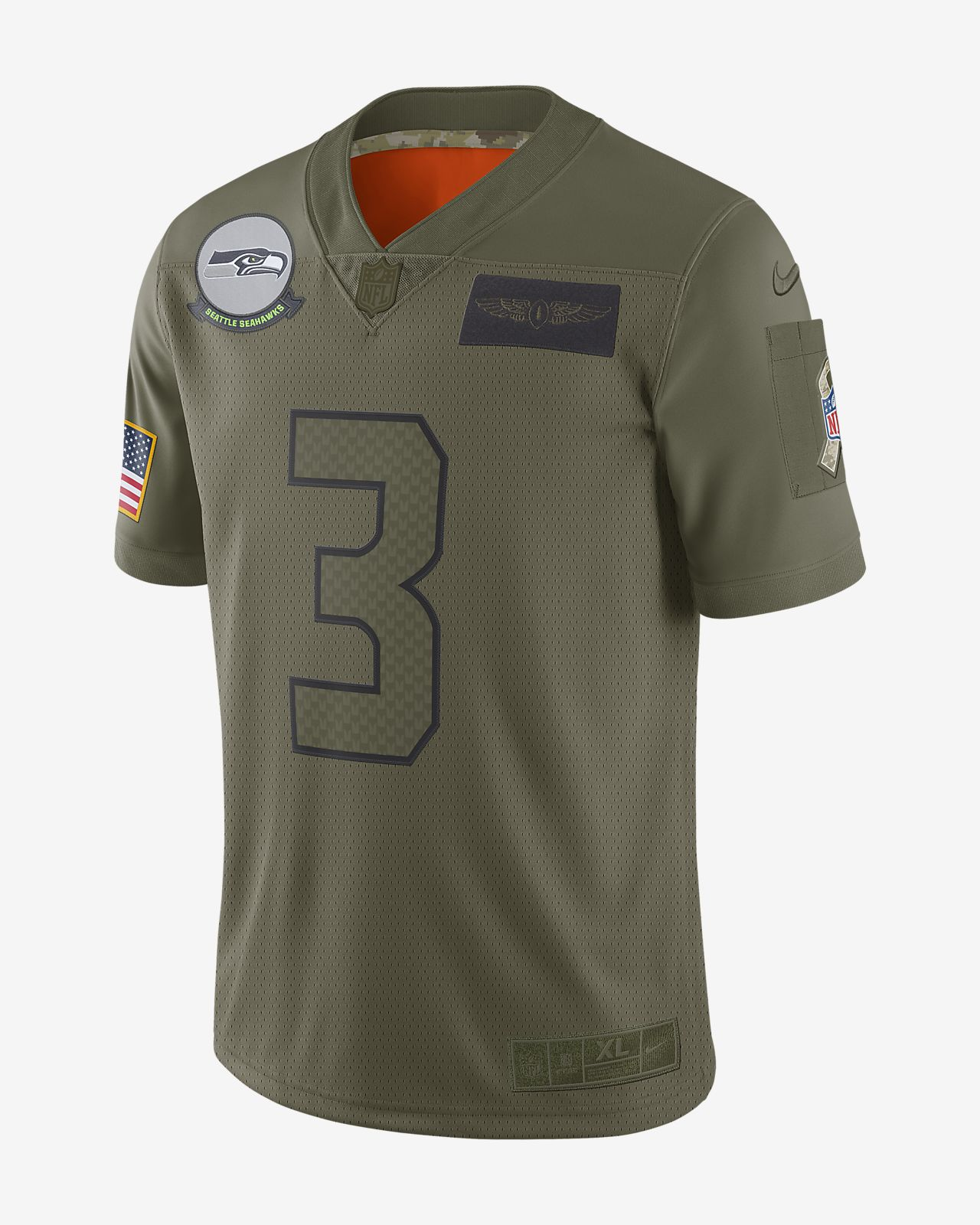 NFL Seattle Seahawks Limited Salute To Service (Russell Wilson) Men's Football Jersey