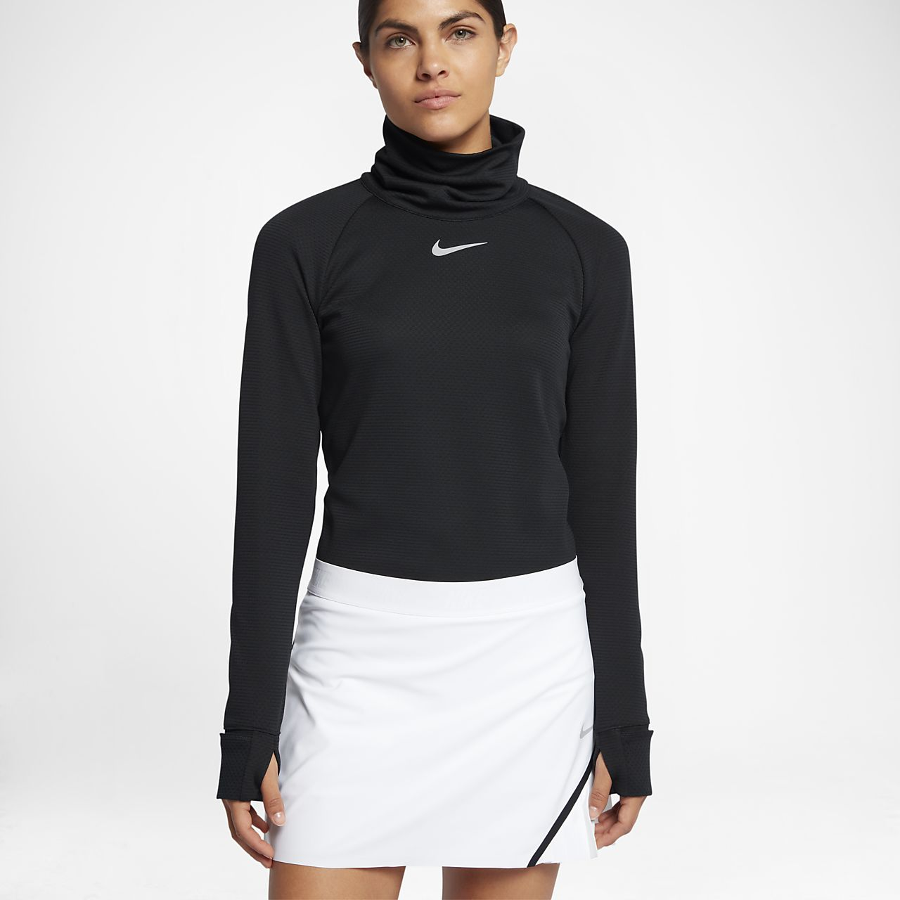 Nike AeroReact Warm Langarm-Golfoberteil für Damen