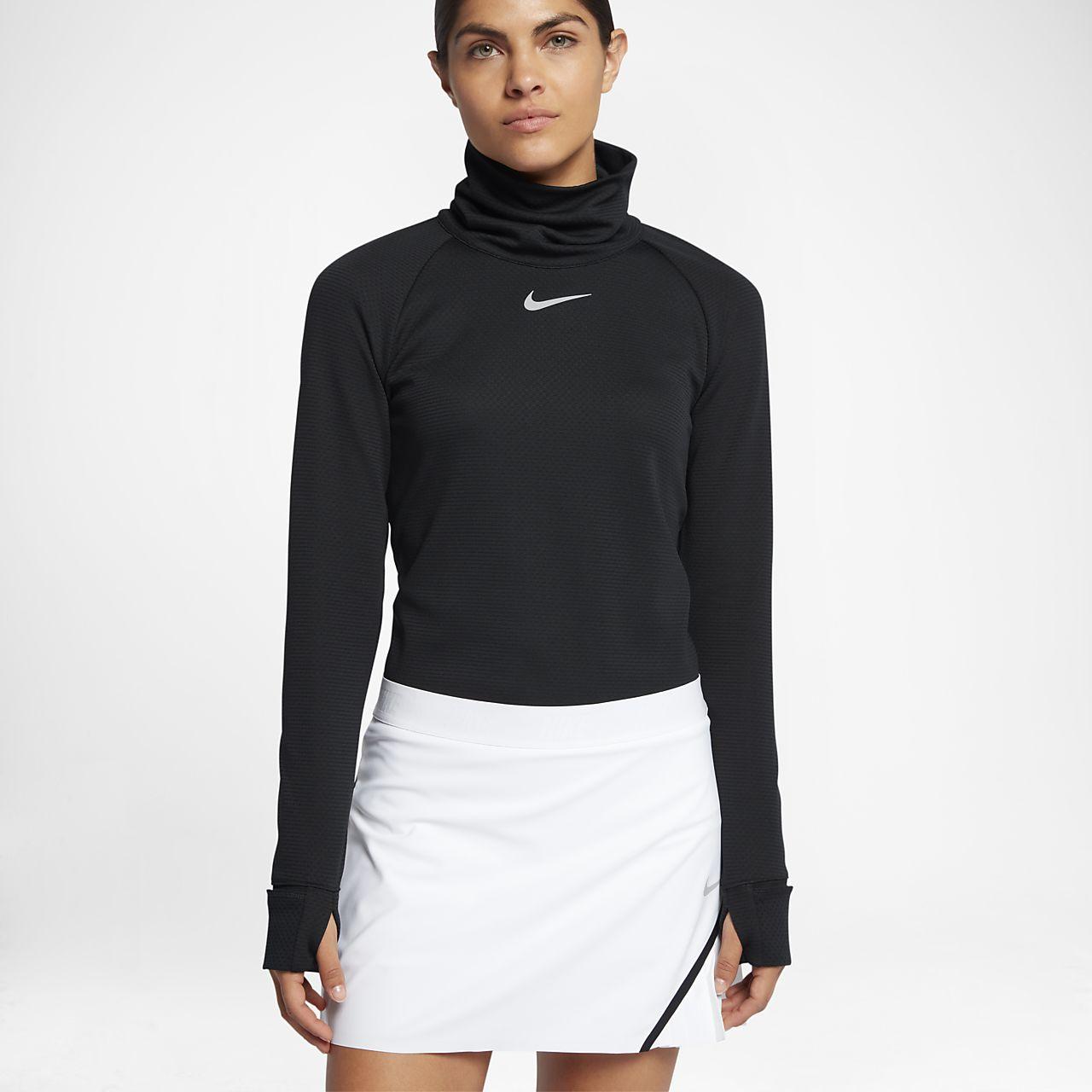 Damska koszulka do golfa z długim rękawem Nike AeroReact Warm