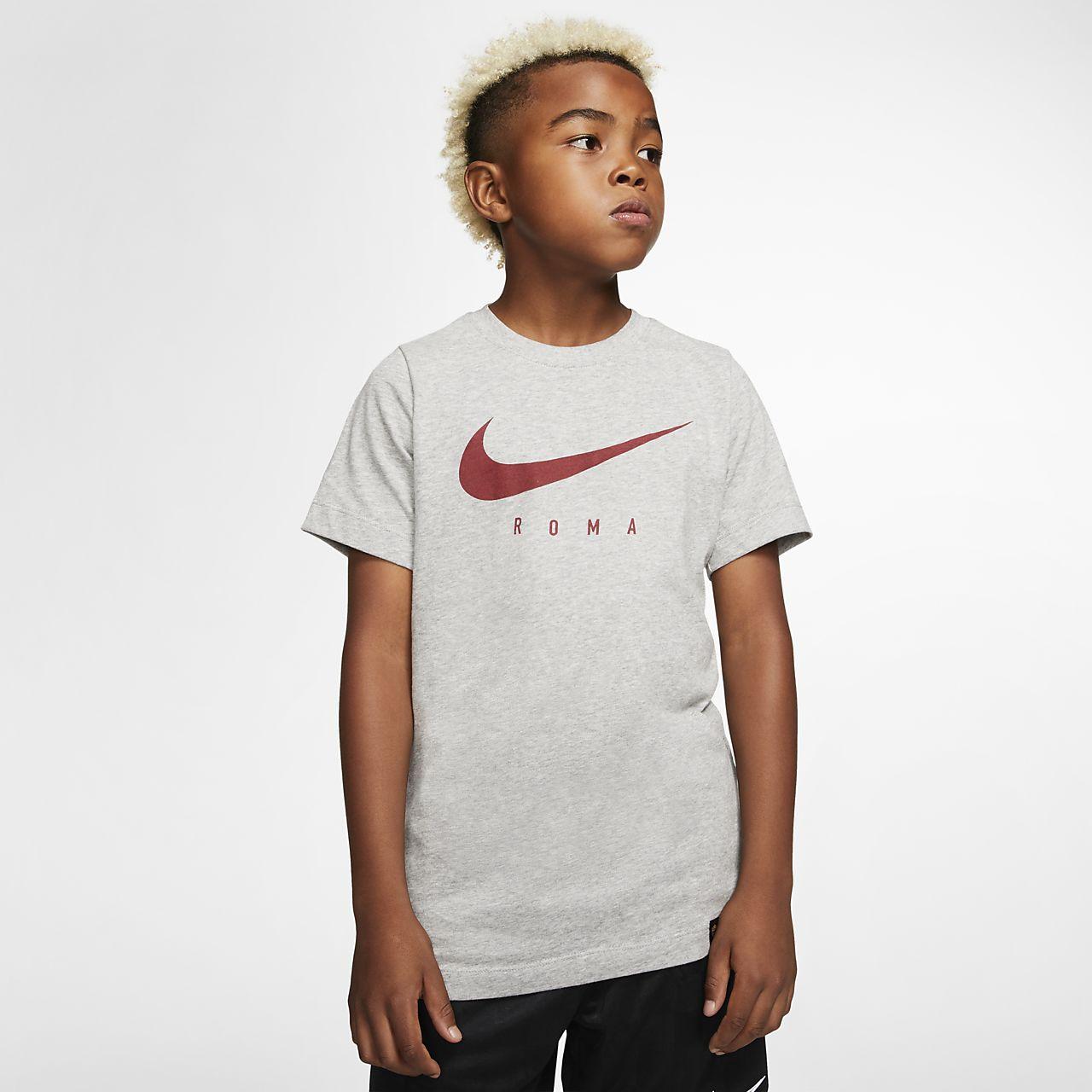 Tee-shirt de football Nike Dri-FIT A.S. Roma pour Enfant plus âgé