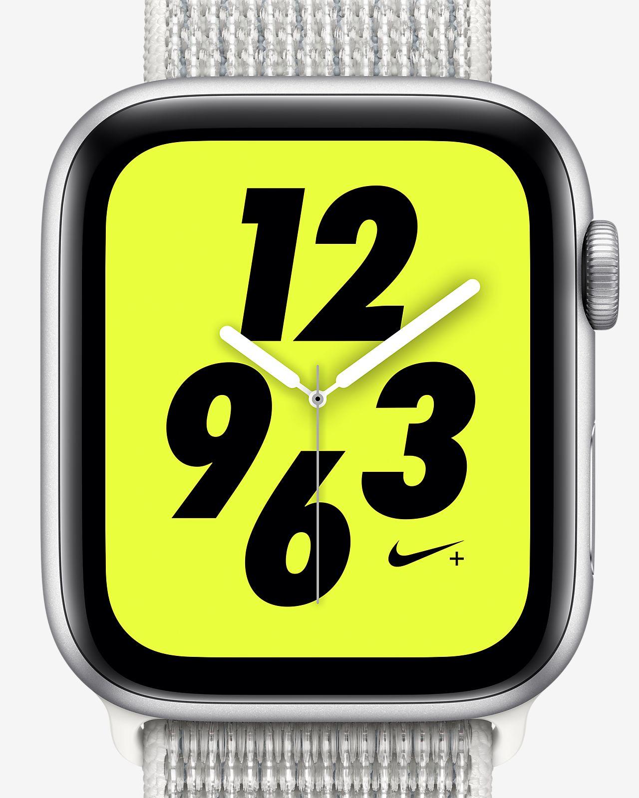 Apple Watch Nike+ Series 4 (GPS) met geweven sportbandje van Nike van 44 mm