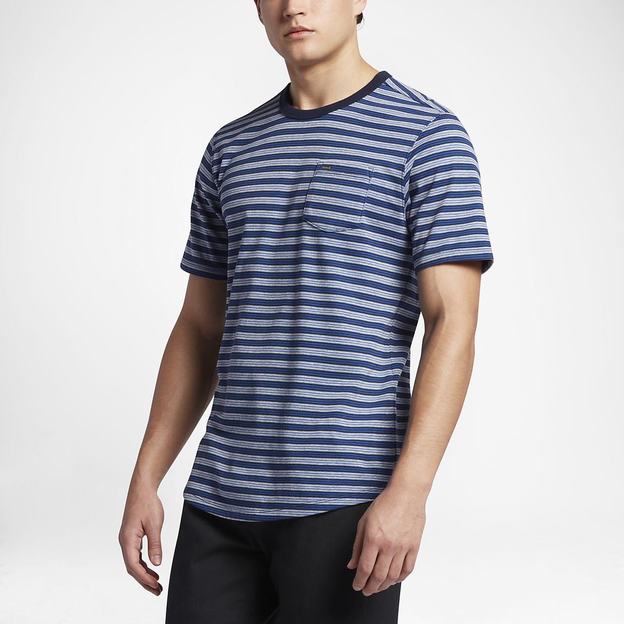 Nike Mens T-Shirt - Nike Hurley Staple Crew Black Heather S52m4631
