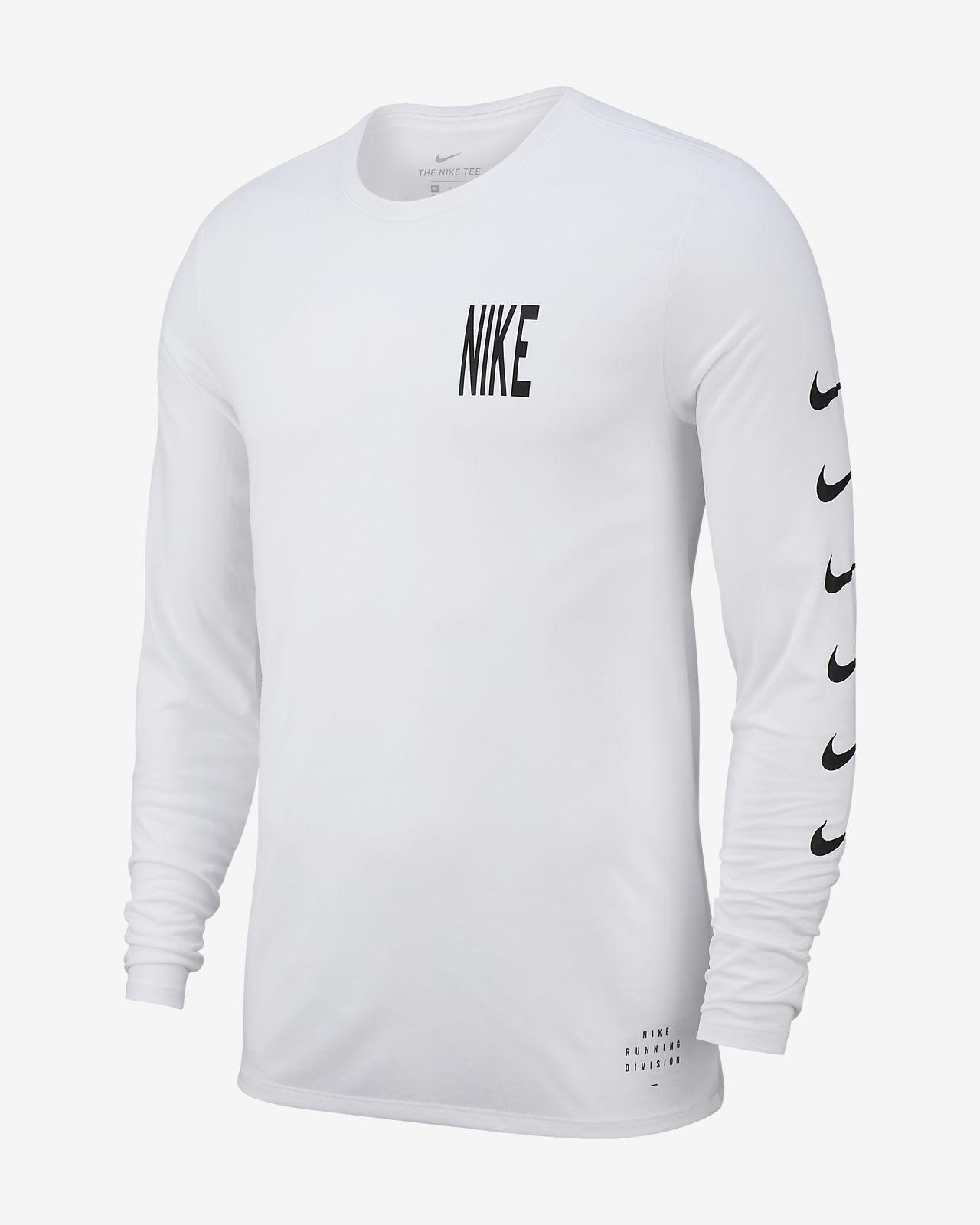 เสื้อยืดวิ่งแขนยาวผู้ชาย Nike Dri-FIT