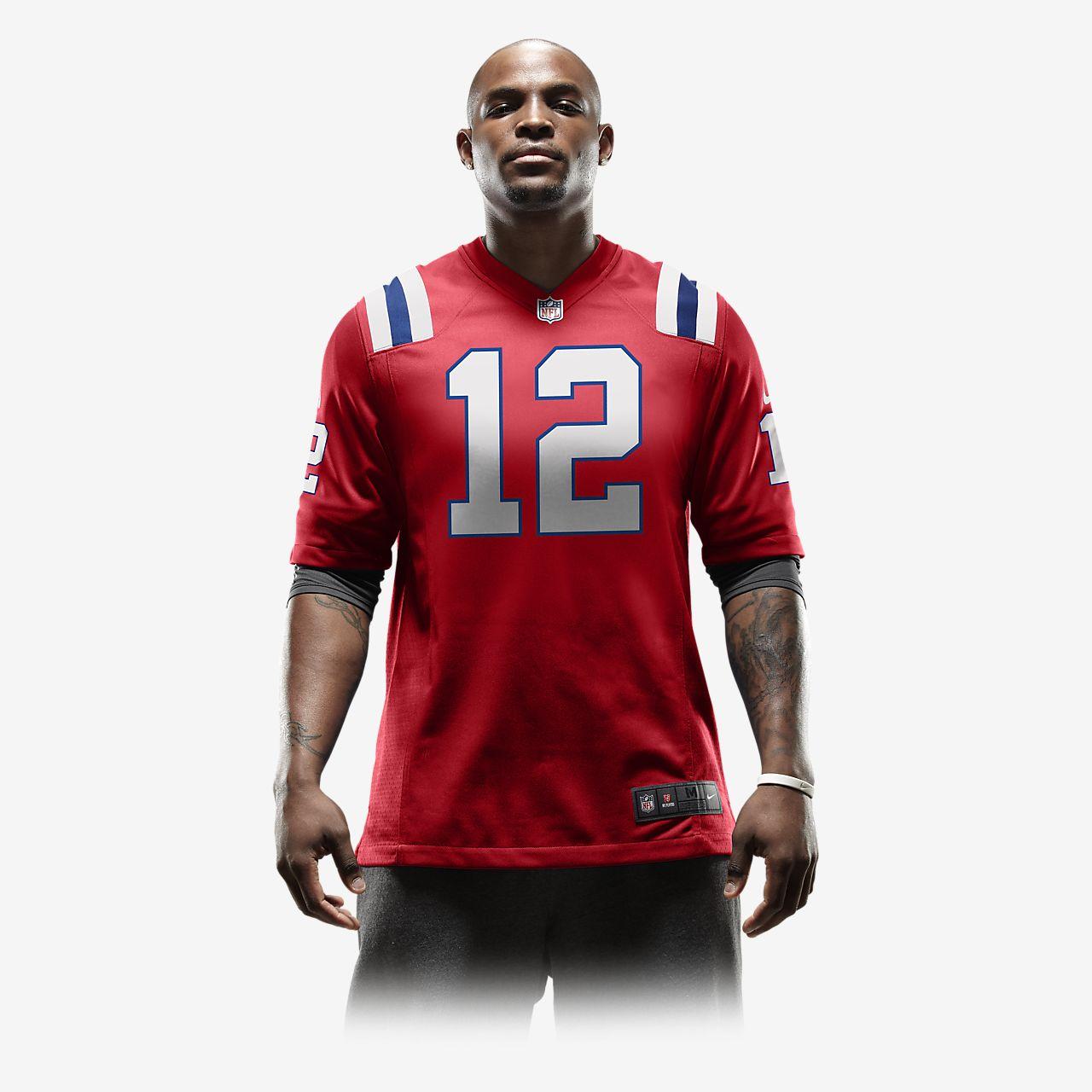 17f9a505d5100 ... Camiseta oficial de fútbol americano alternativa para hombre de NFL New  England Patriots (Tom Brady