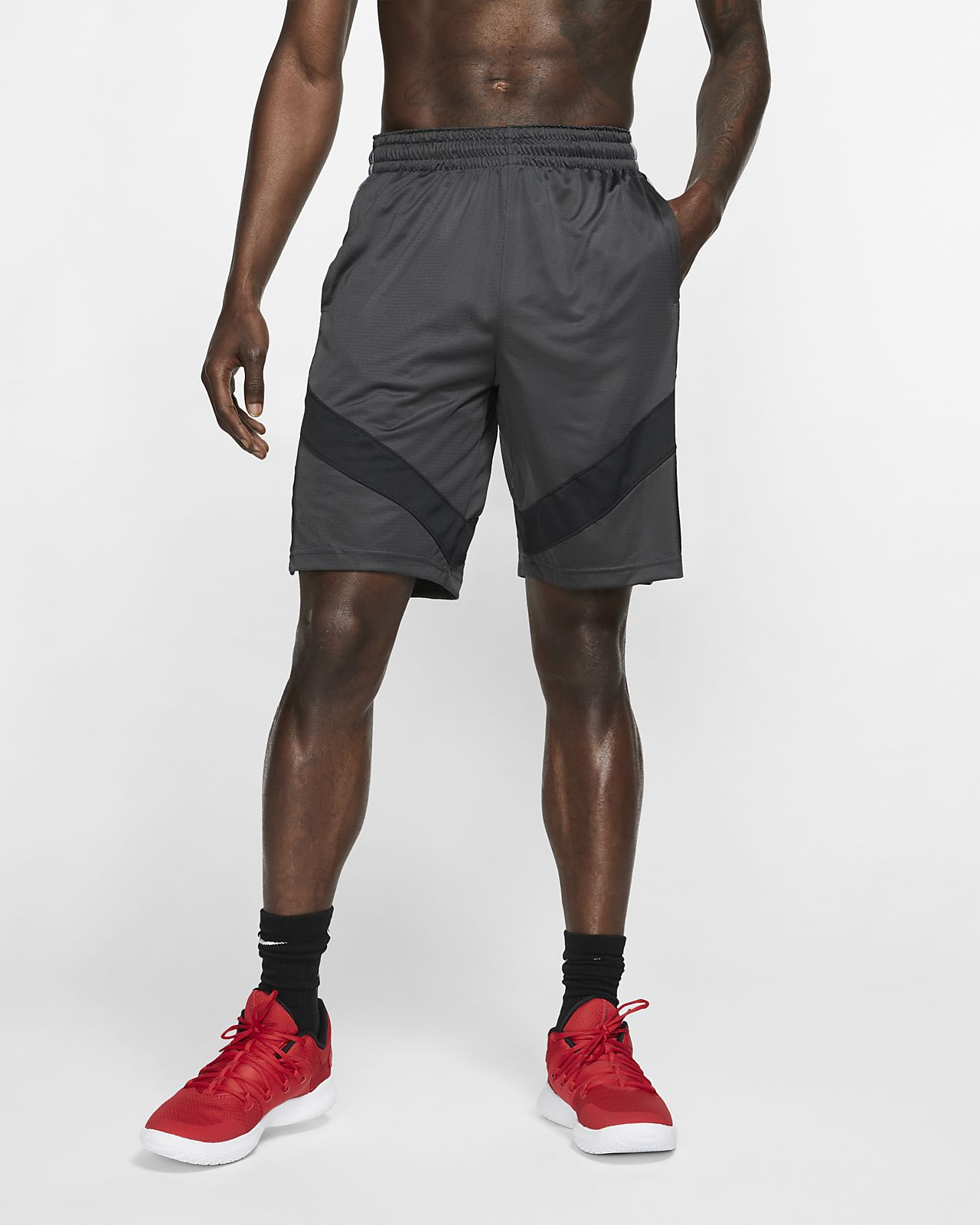 Nike Dri FIT Courtlines Men's Printed Basketball Shorts