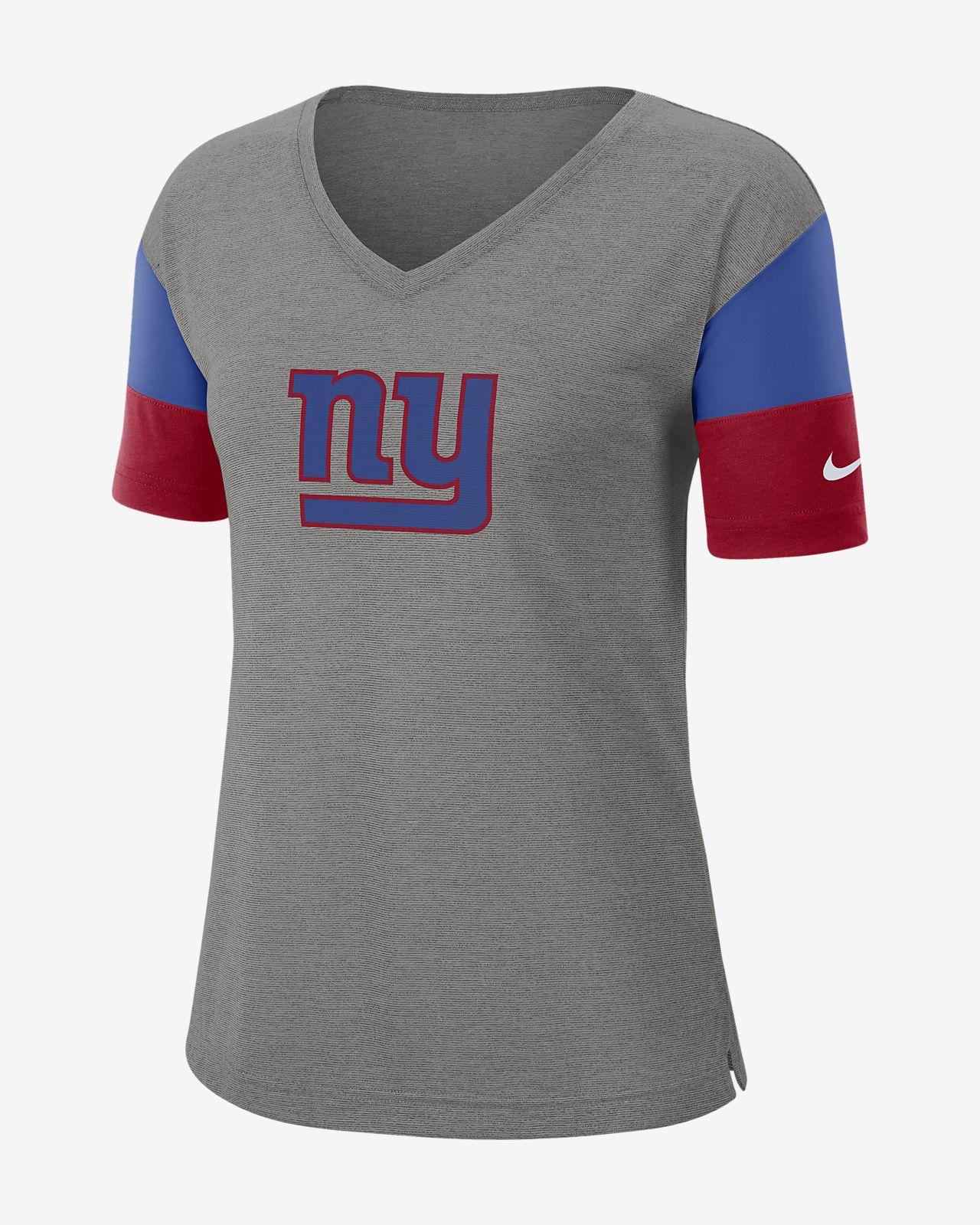 Nike Breathe (NFL Giants) Women's Short-Sleeve V-Neck Top