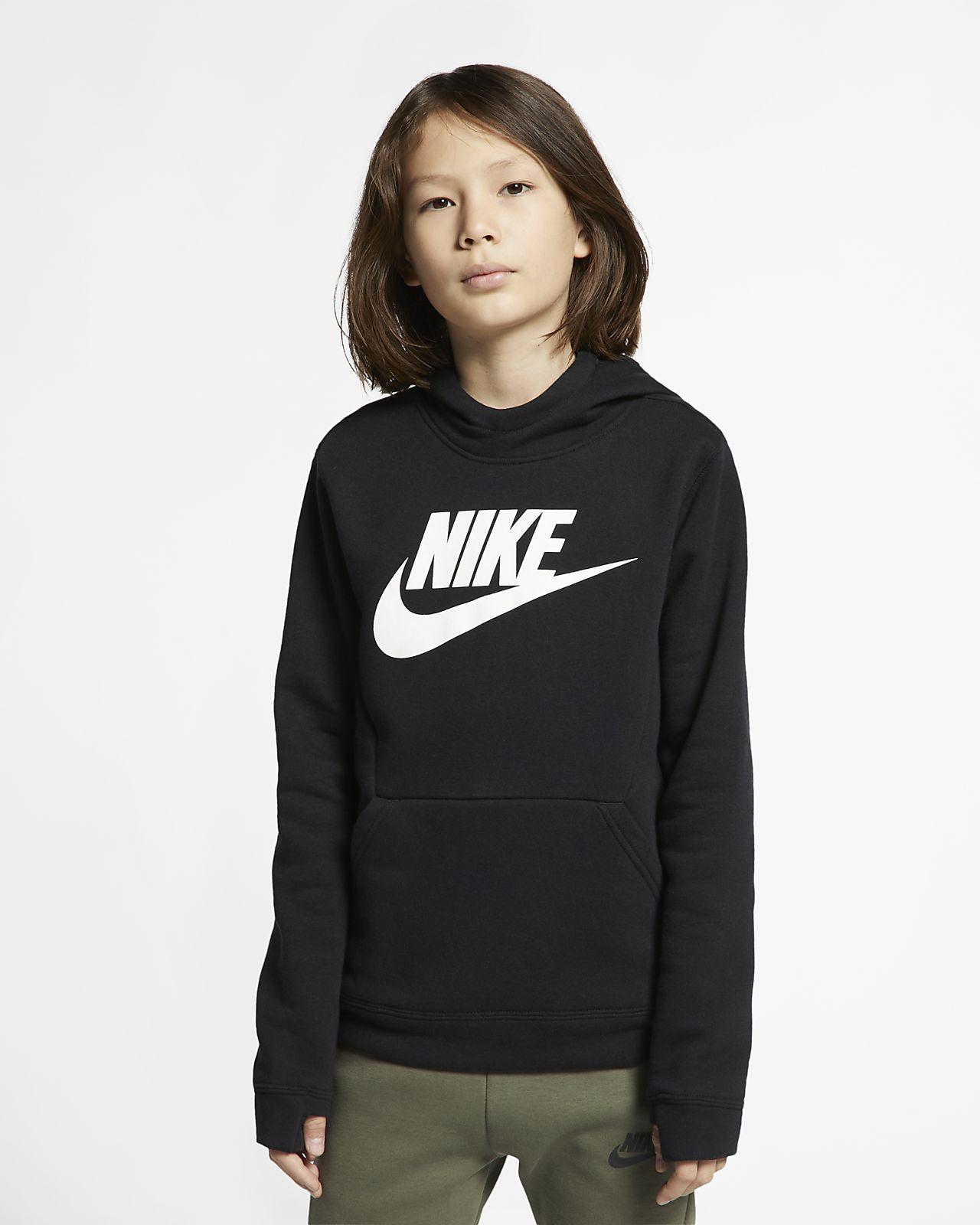 Sudadera con capucha sin cierre en tejido Fleece para niños talla grande Nike Sportswear
