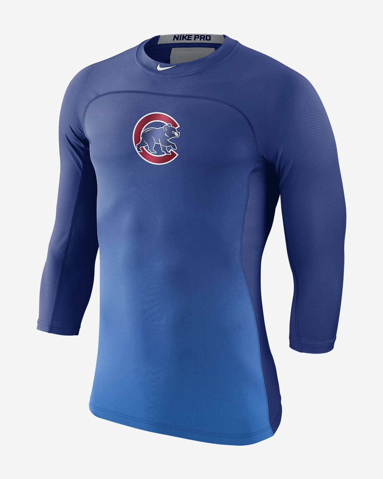Nike Pro HyperCool (MLB Cubs) Men's 3/4 Sleeve Top