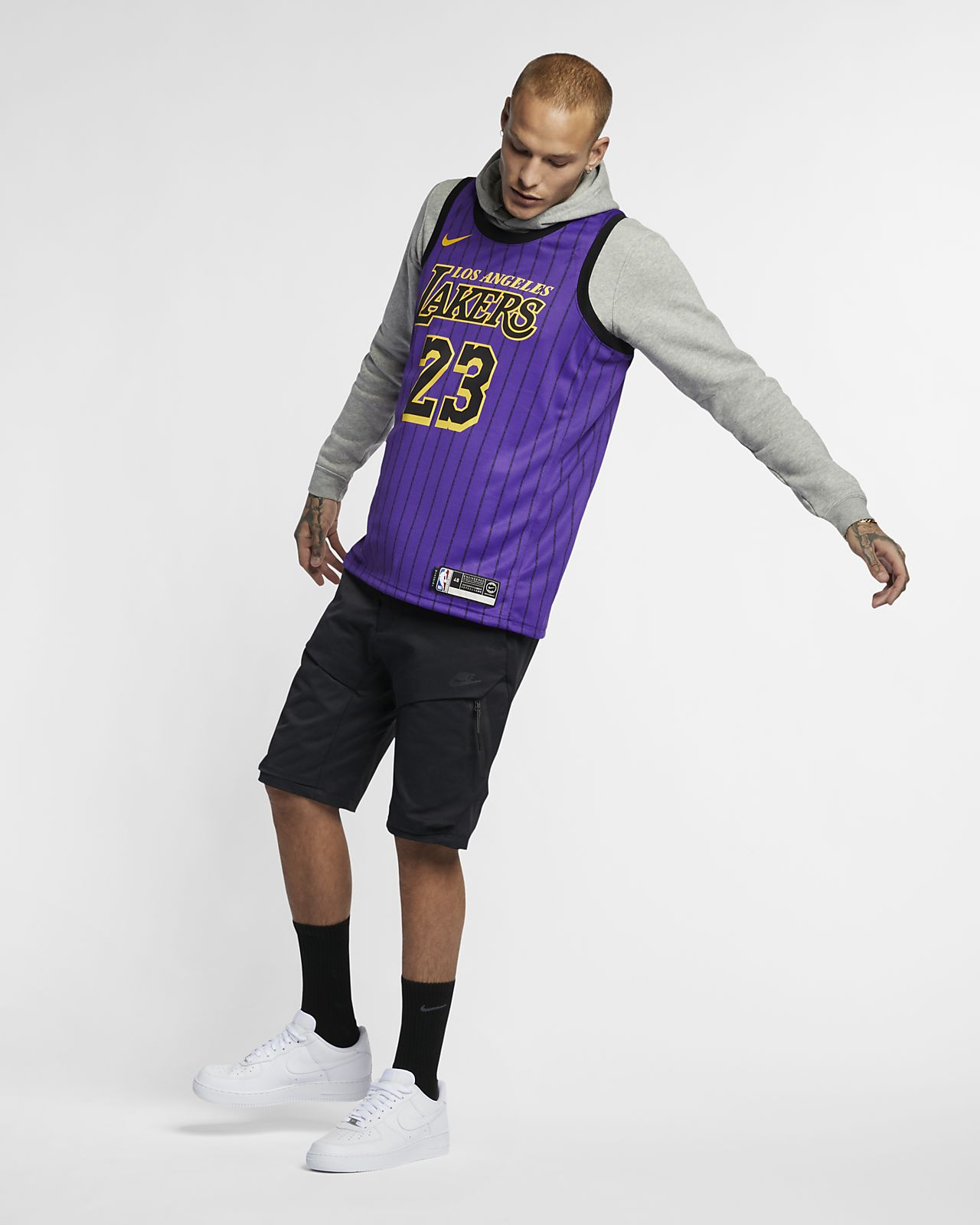 ... LeBron James City Edition Swingman (Los Angeles Lakers) Men s Nike NBA  Connected Jersey 4115b3797