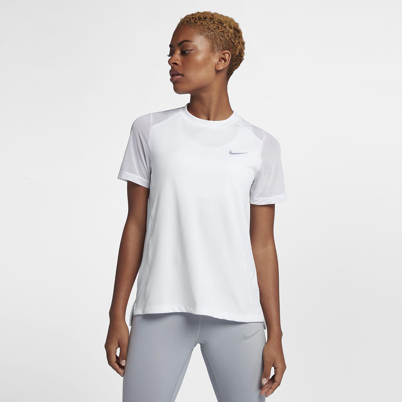 Nike Womens Running Top - Nike Dri-FIT Cool White W7v5741
