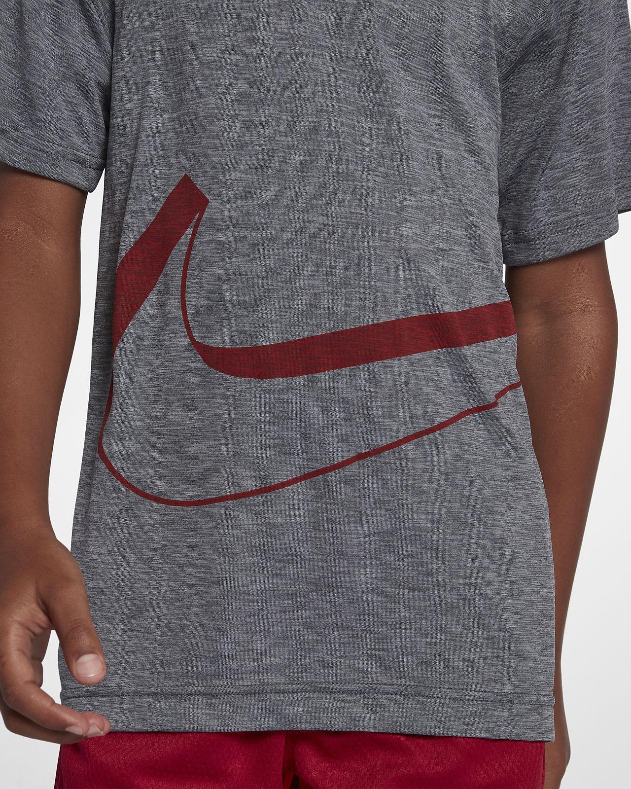 8ced17863 ... Nike Dri-FIT Breathe Big Kids' (Boys') Short Sleeve Training Top