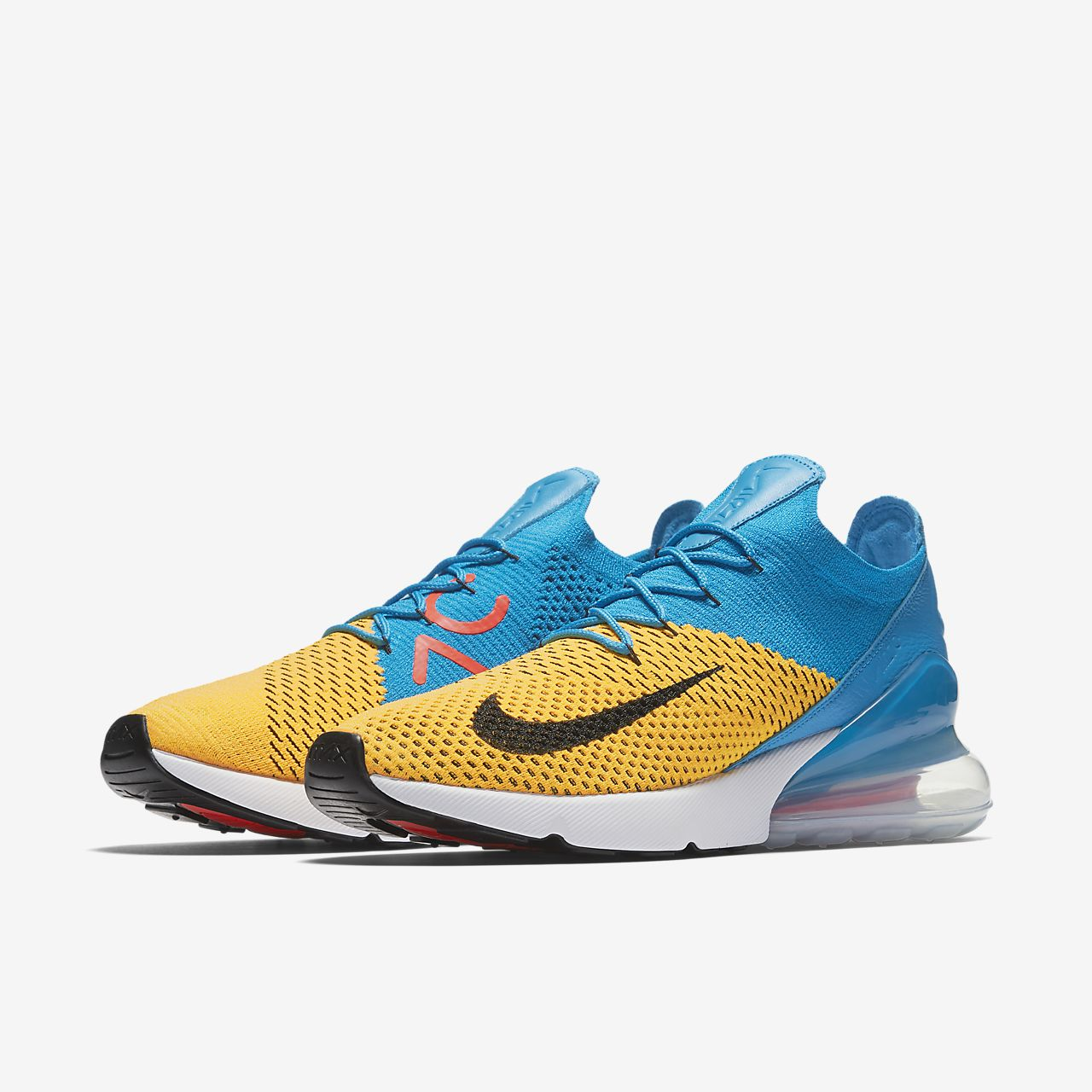 Nike Air Max 270 Flyknit Chaussures Espadrille W Lo Turquoise Turquoise 2SLkXw