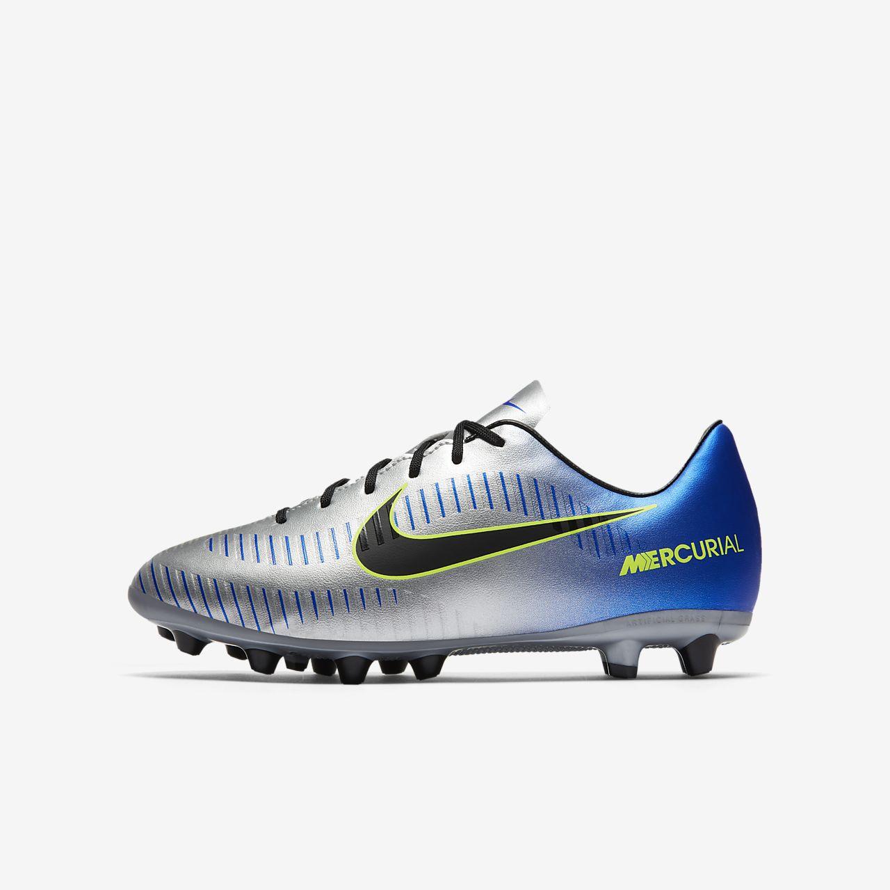 Nike Jr. Mercurial Victory VI Neymar AG-PRO (921487-407) Girls Football Shoes Black/Blue