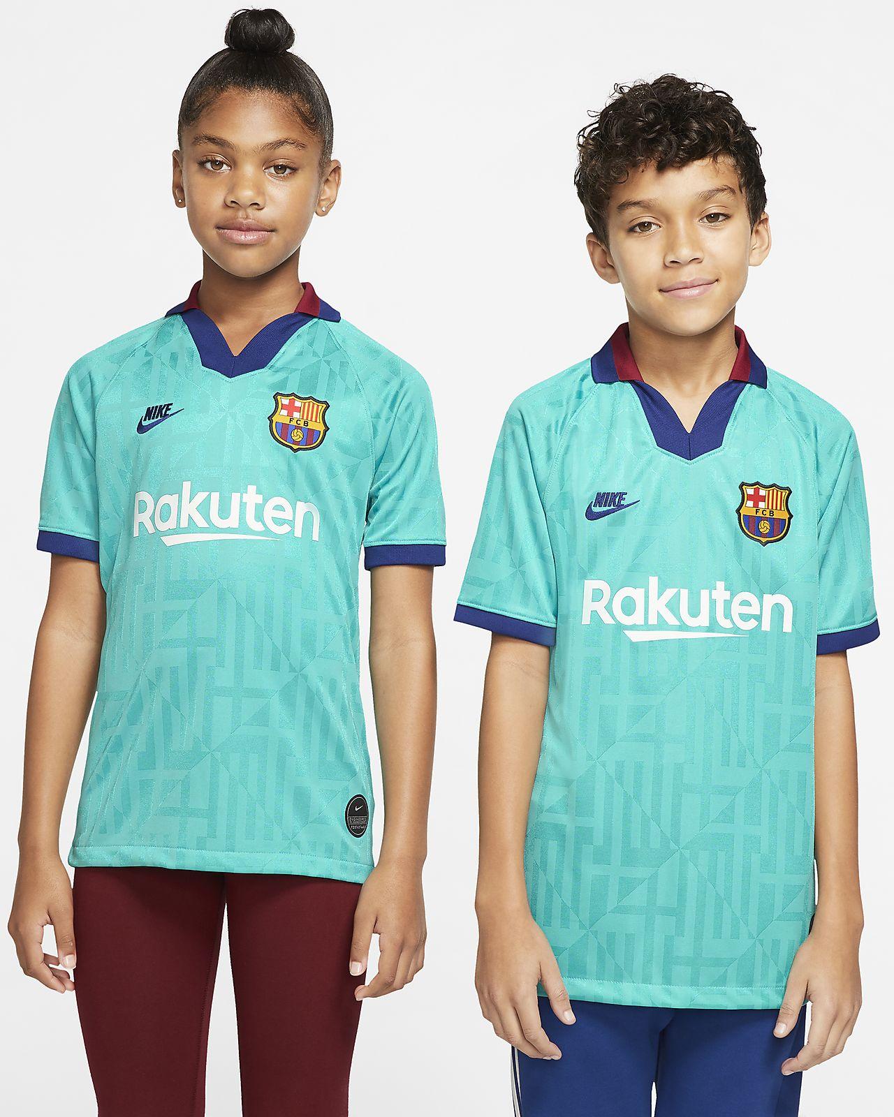 เสื้อแข่งฟุตบอลเด็กโต FC Barcelona 2019/20 Stadium Third