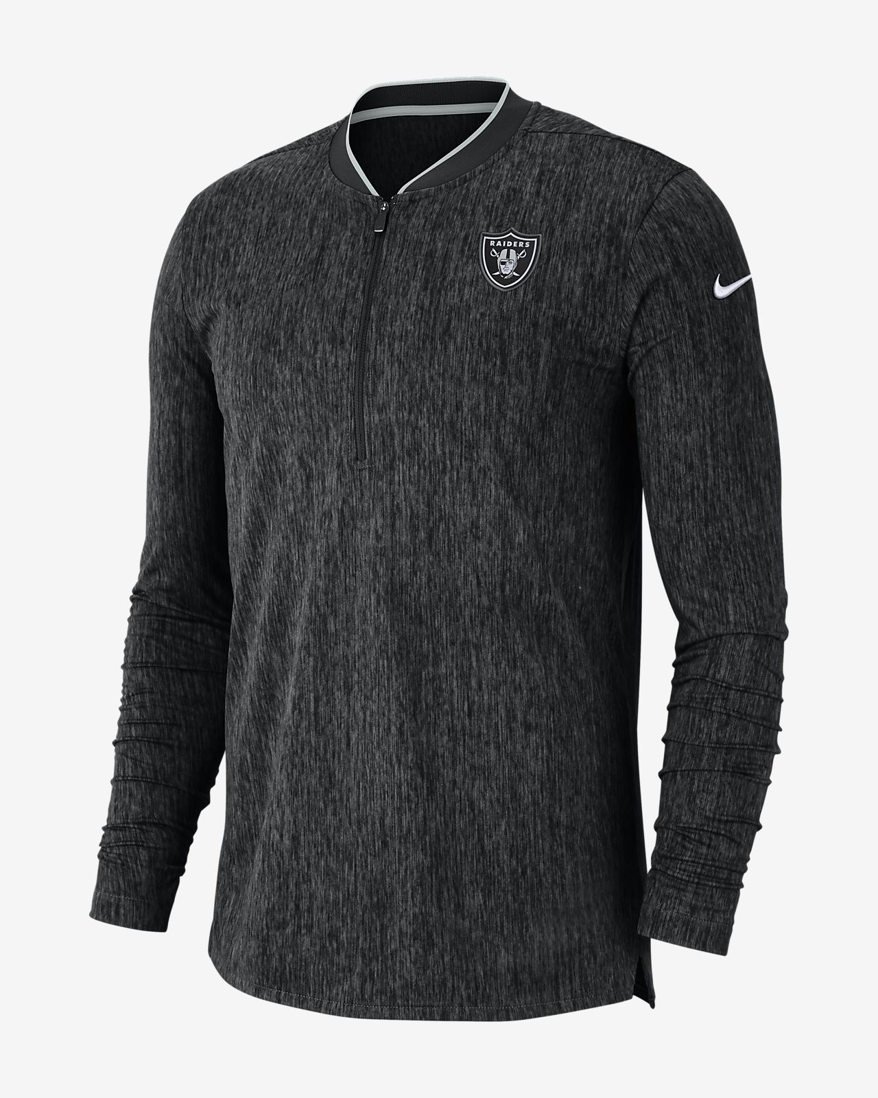 Nike Coach (NFL Raiders) Men's Half-Zip Long Sleeve Top
