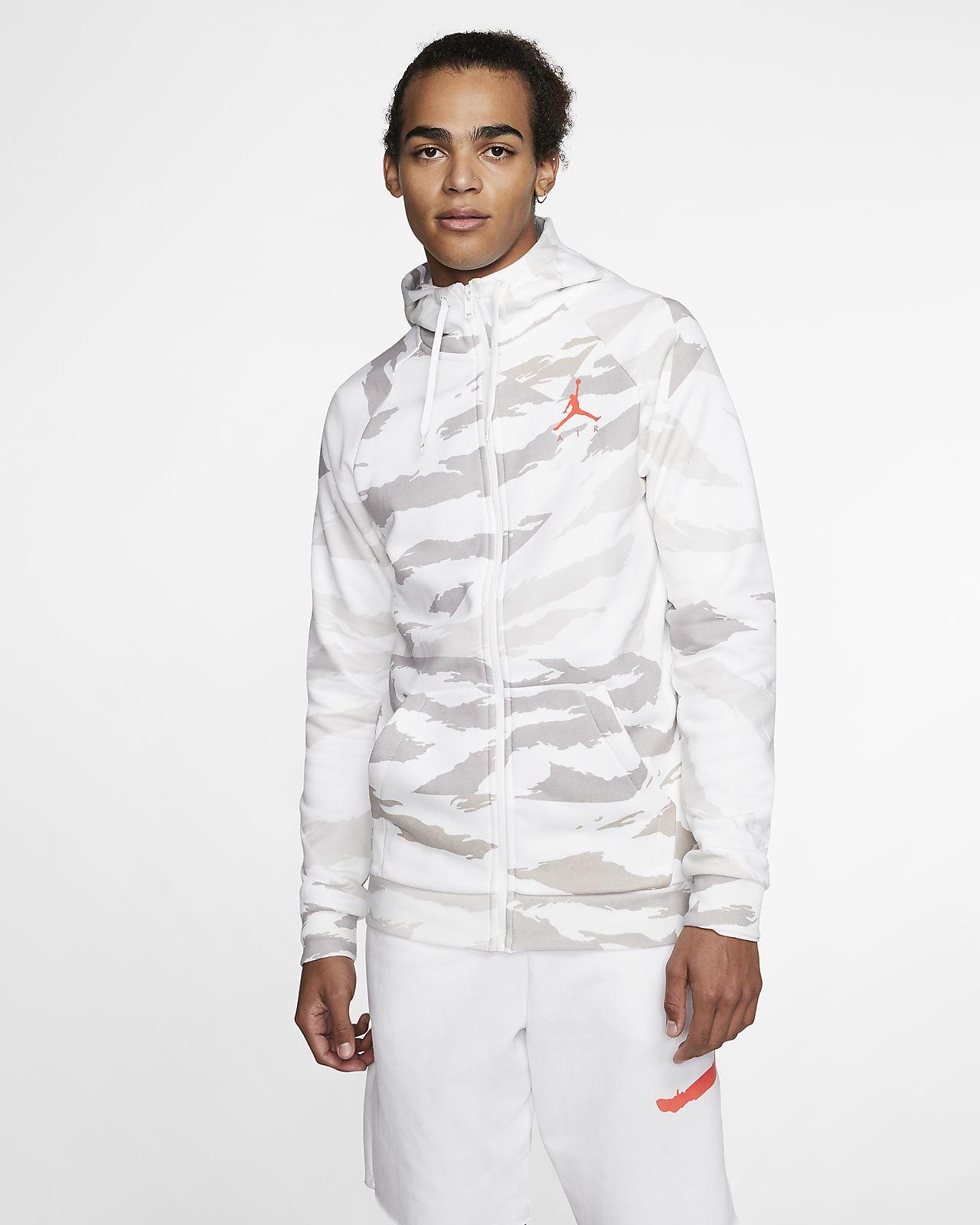 Bluza z kapturem ze wzorem moro i zamkiem na całej długości Jordan Jumpman