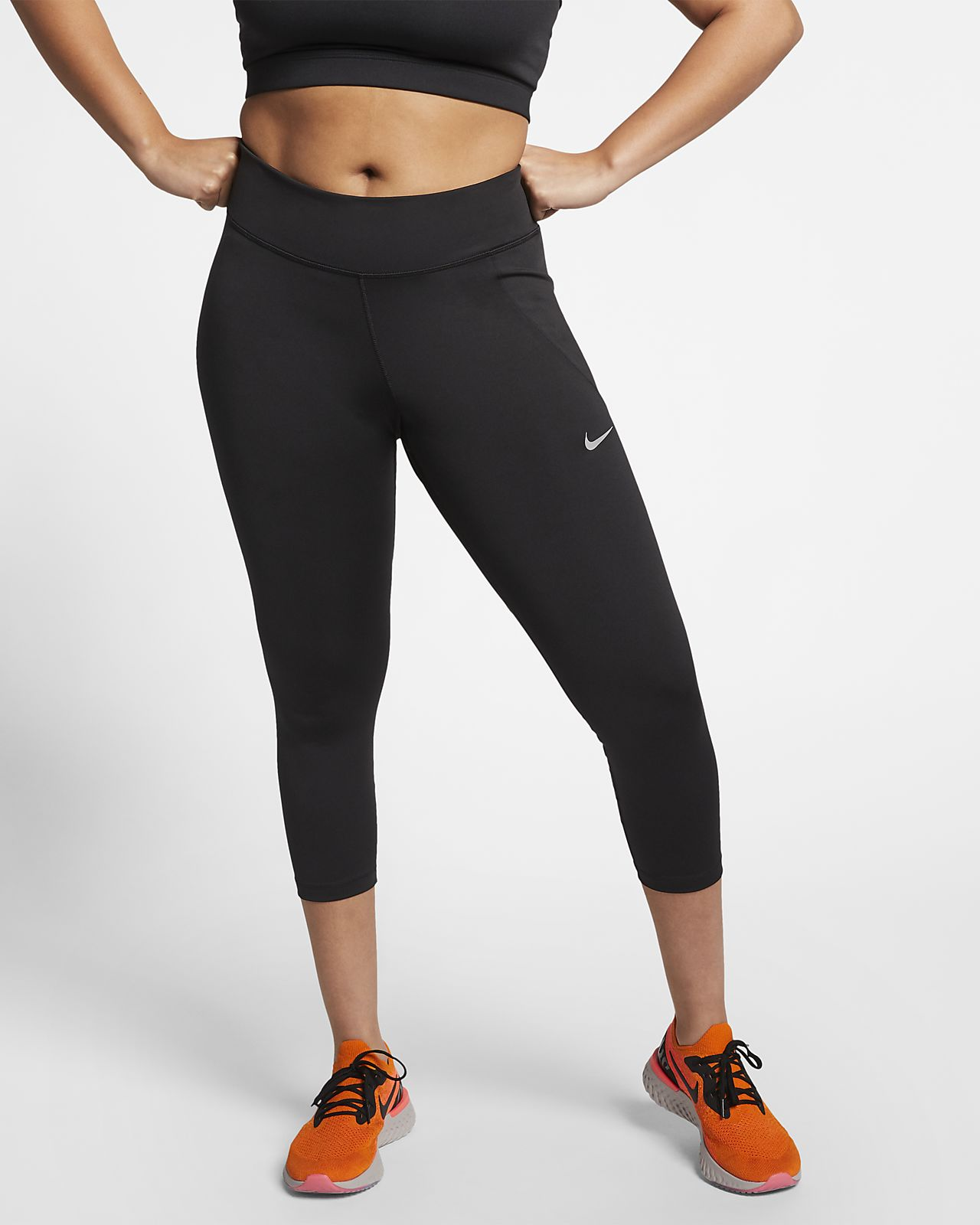 Leggings da running ridotti a 3/4 Nike Fast (Plus Size) - Donna