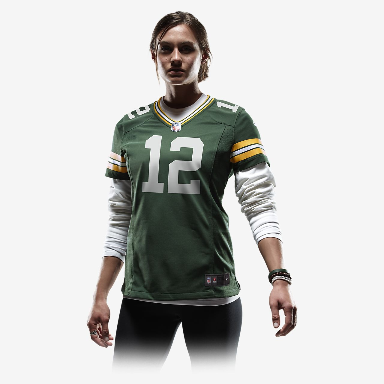 best service 21408 1a3be NFL Green Bay Packers (Aaron Rodgers) Women's Football Home Game Jersey