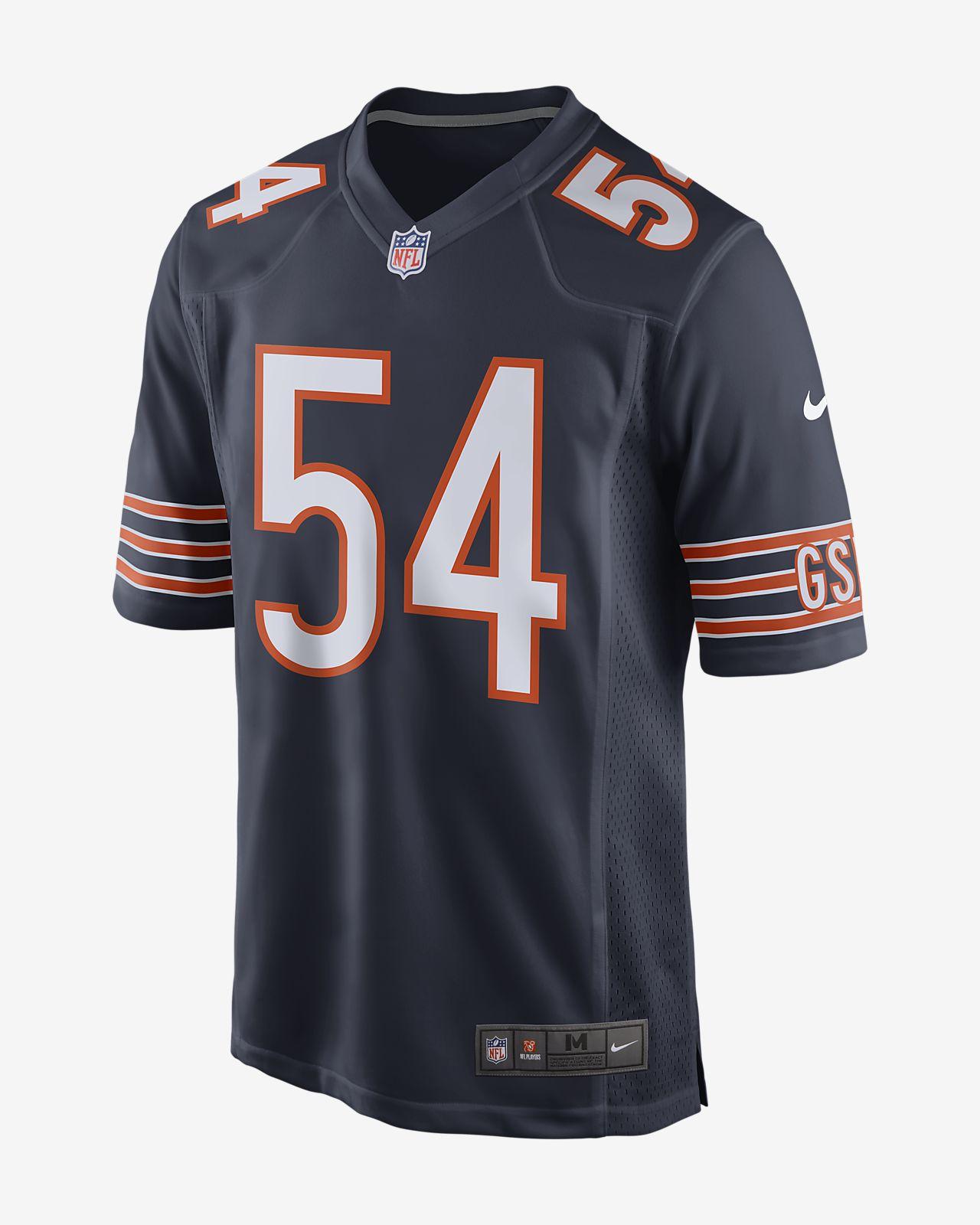 NFL Chicago Bears (Brian Urlacher) Men's Football Home Game Jersey