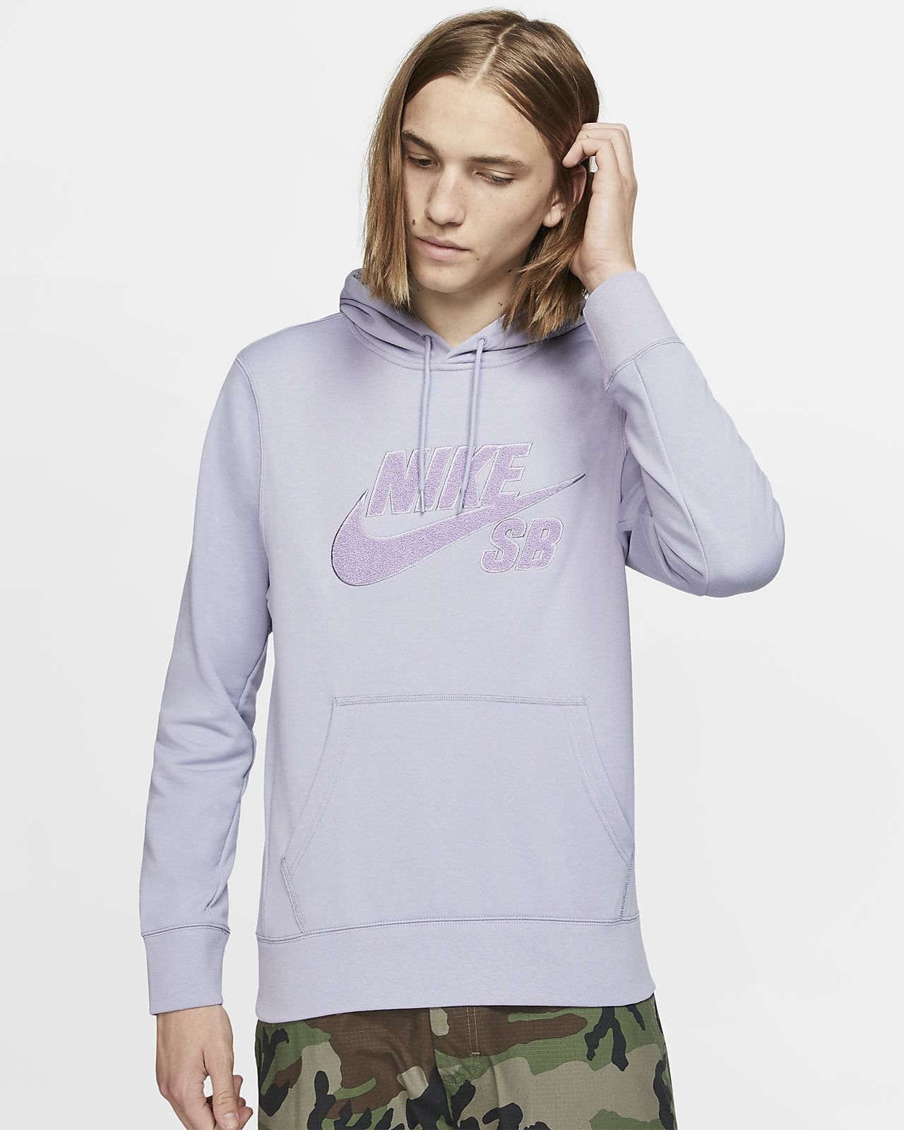 Hoodie pullover de skateboard Nike SB Icon para homem