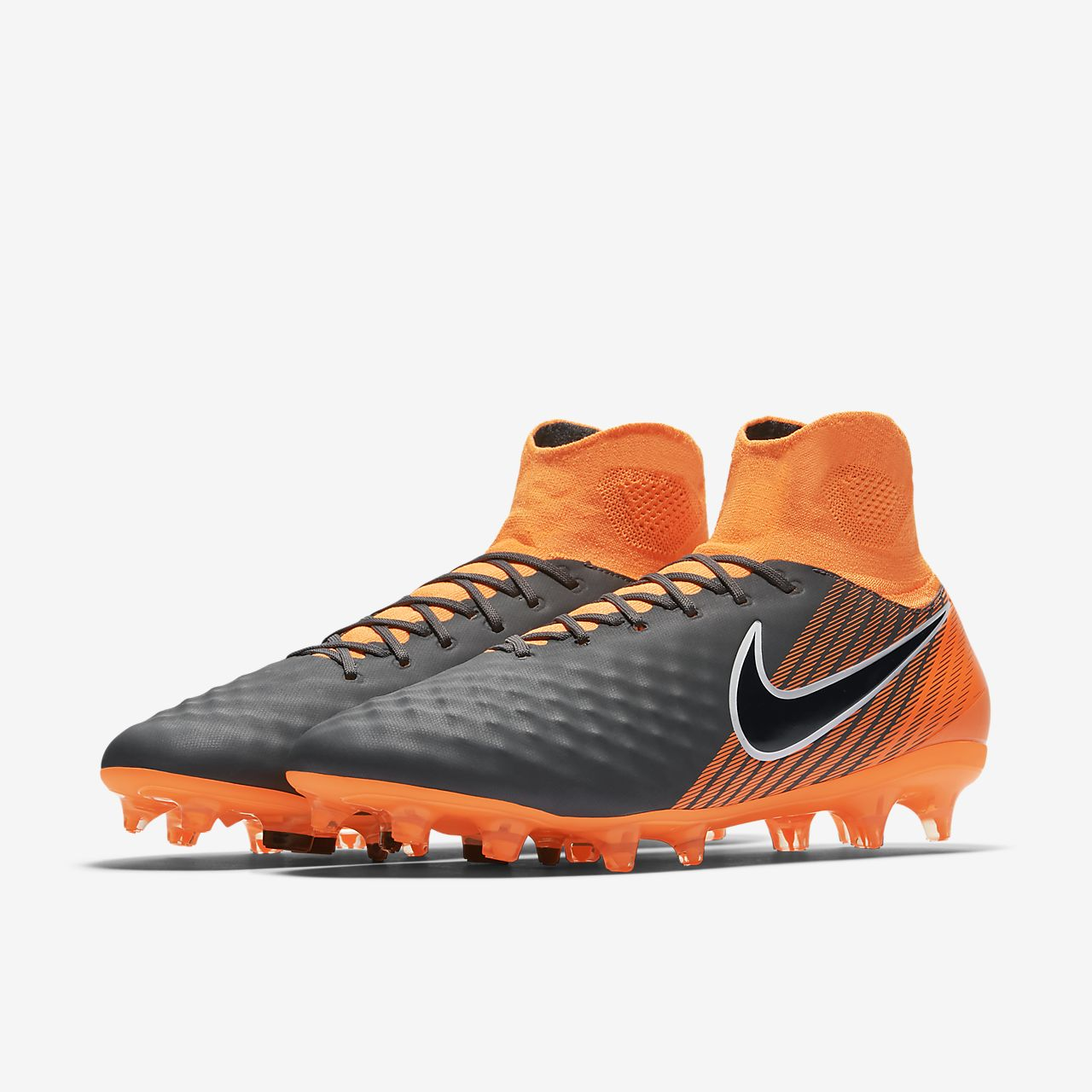 Scarpa da calcio per terreni duri Nike Magista Obra II Elite Dynamic Fit FG - Grigio nike marroni