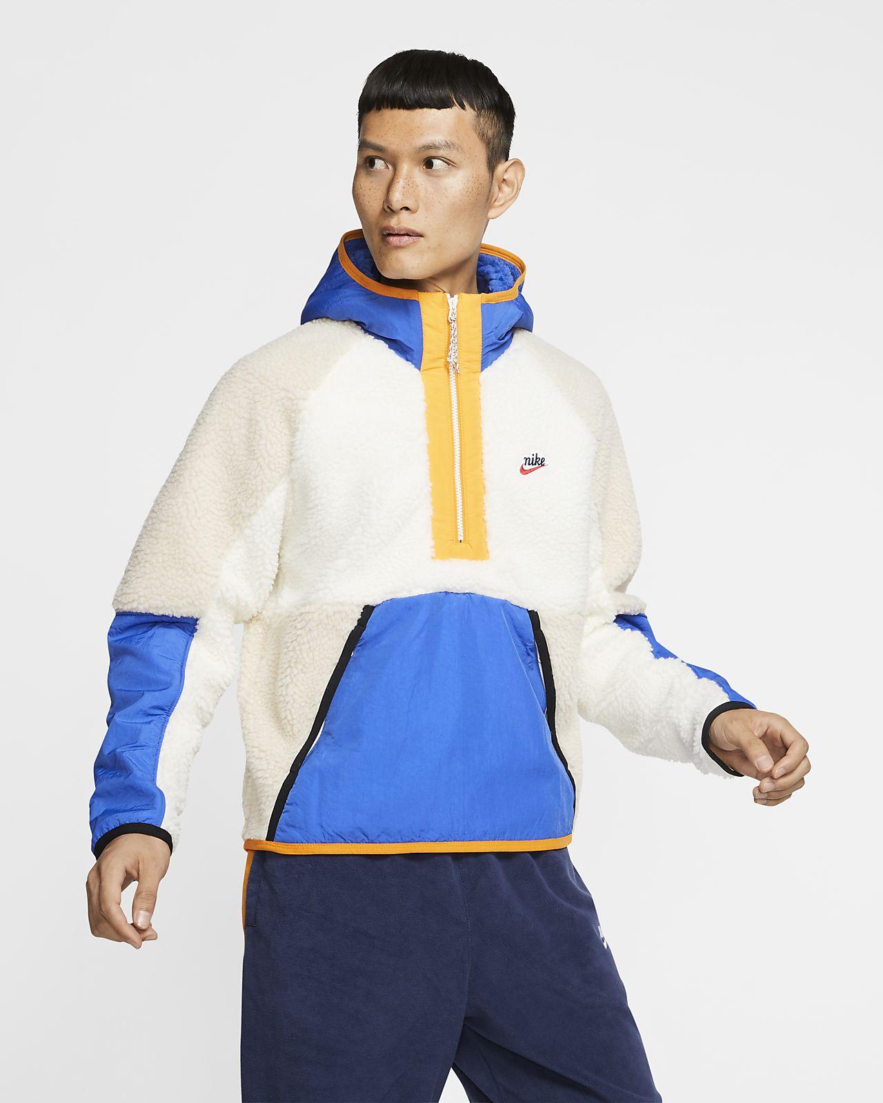 Sweat à capuche en sherpa à demi-zip Nike Sportswear