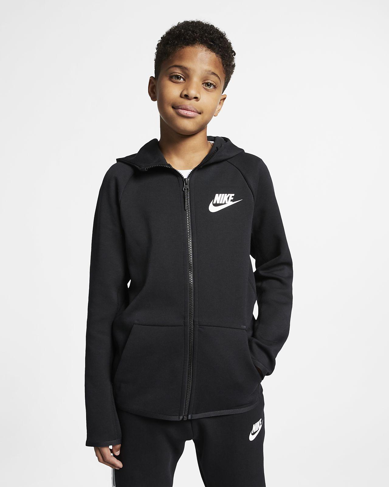 Nike Sportswear Tech Fleece Older Kids' Full Zip Jacket
