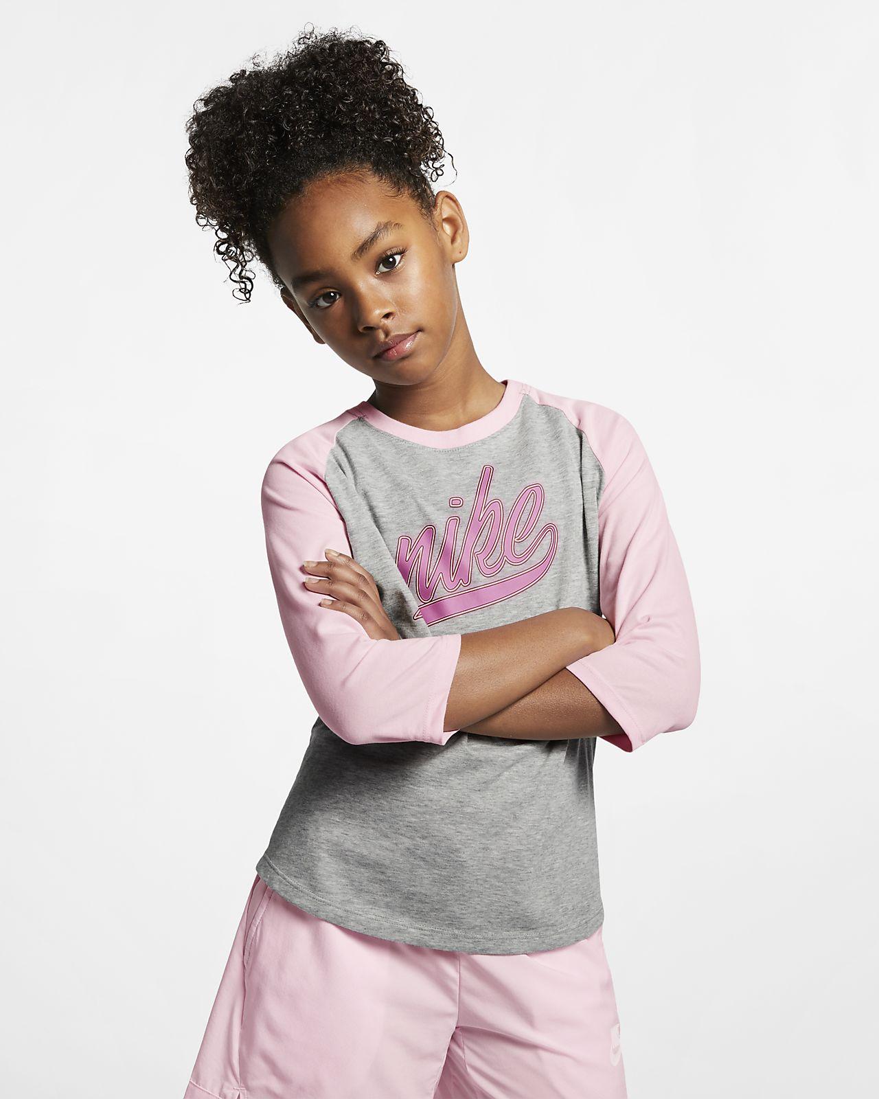 Nike Dri-FIT Big Kids' (Girls') 3/4-Sleeve T-Shirt