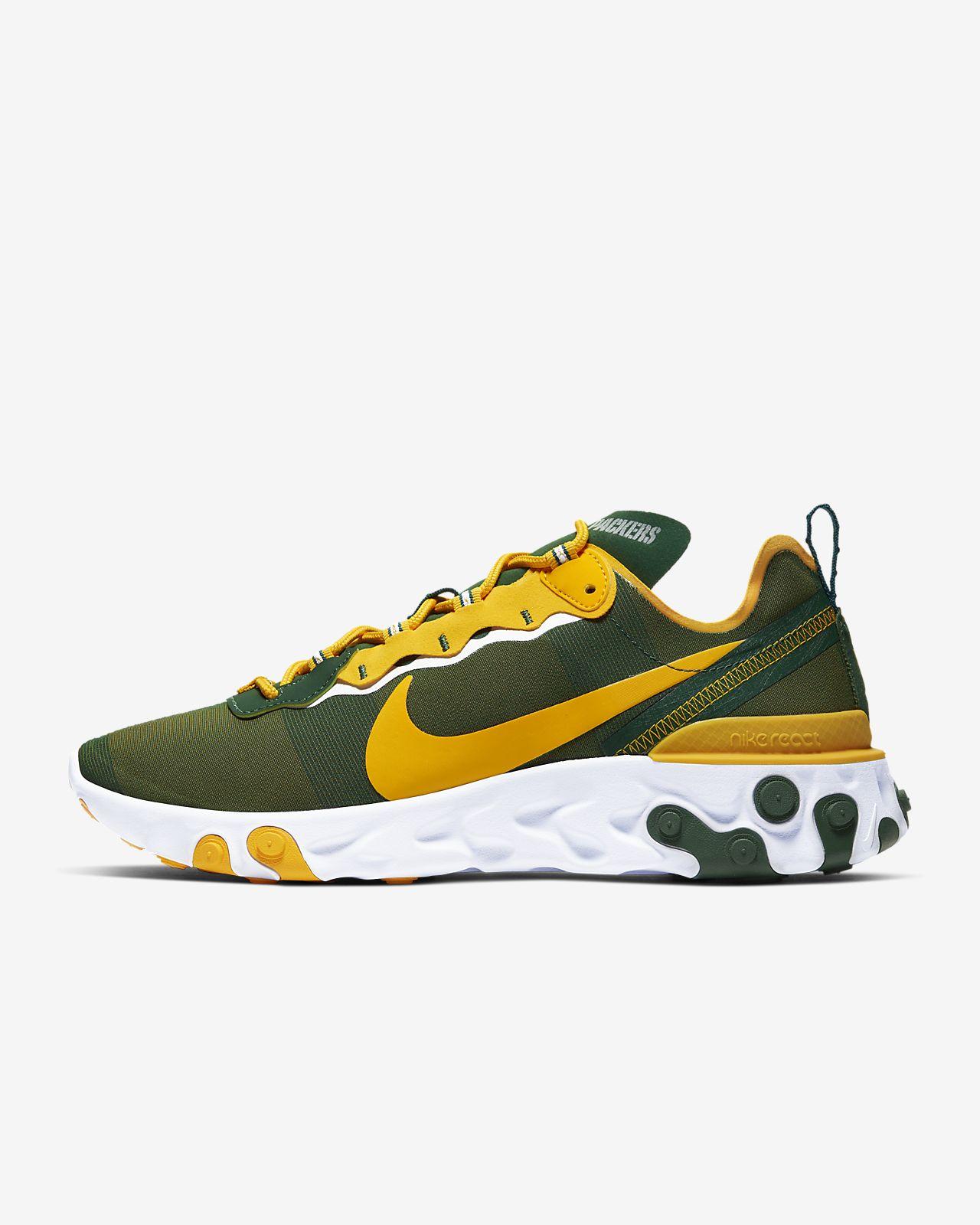 Nike React Element 55 (Green Bay Packers) Men's Shoe