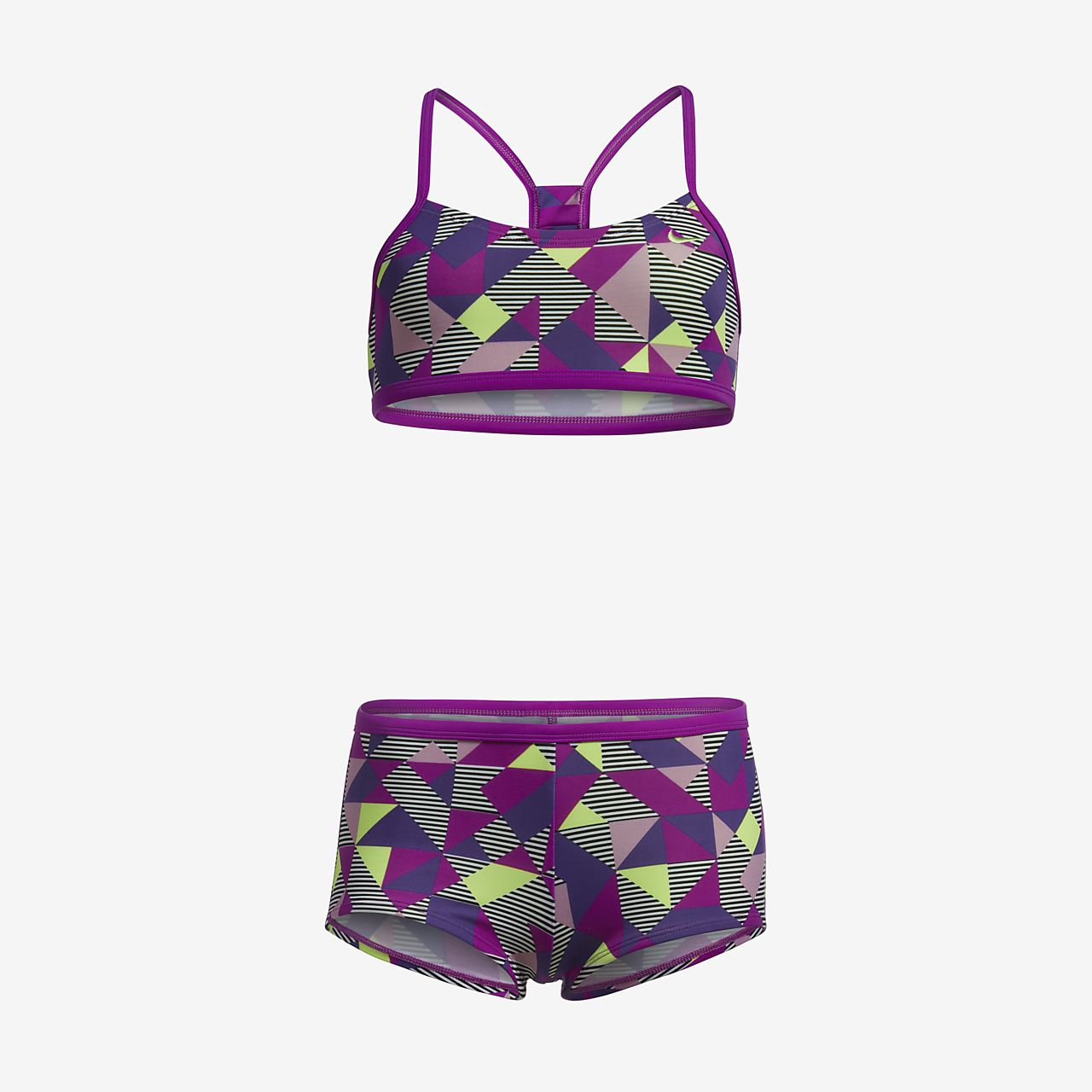 e81d2a42543e ... Nike Optic Pop Racerback Bikini Big Kids' (Girls') Two-Piece Swimsuit